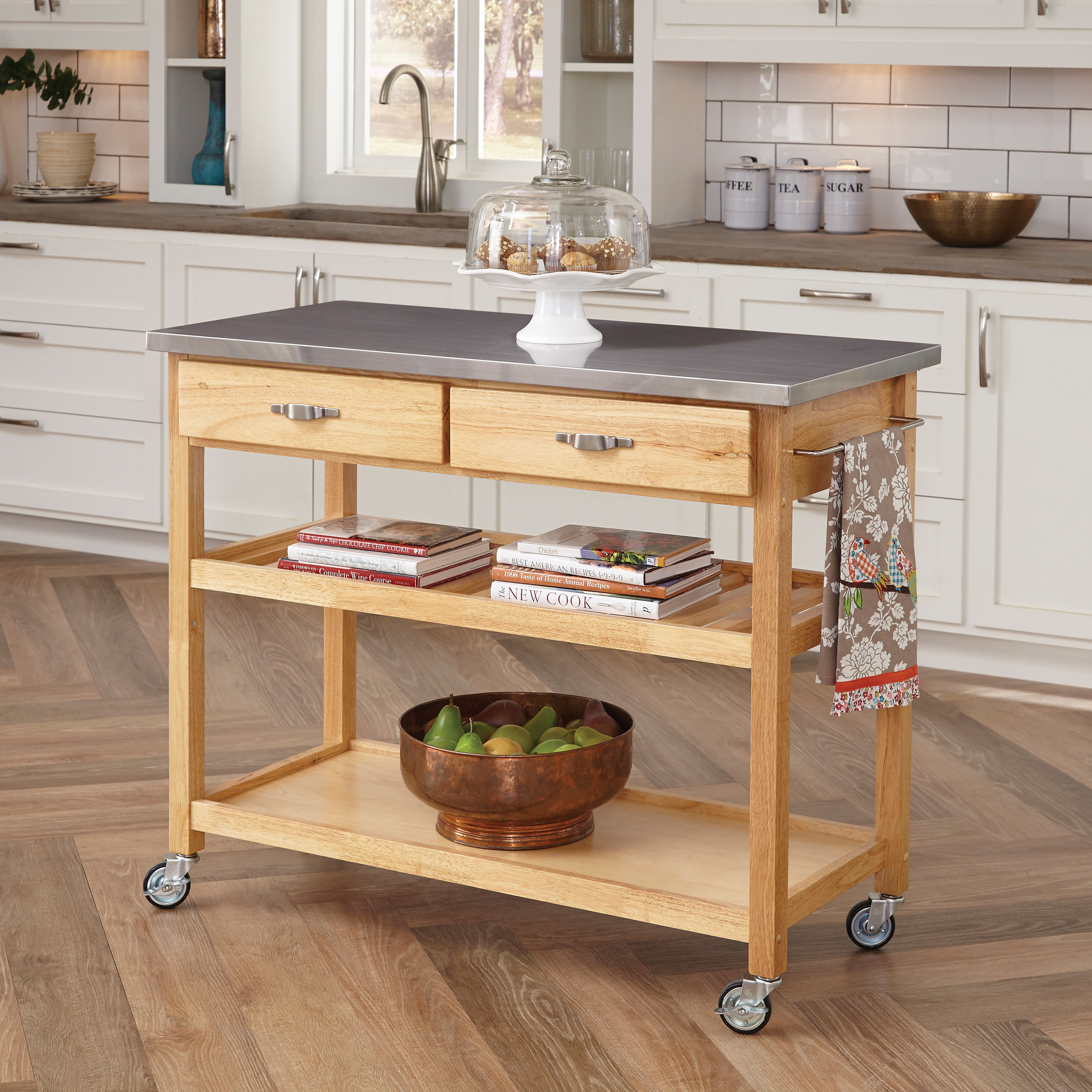 Ideas About Dark Wood Movable Kitchen Island With Stools 36