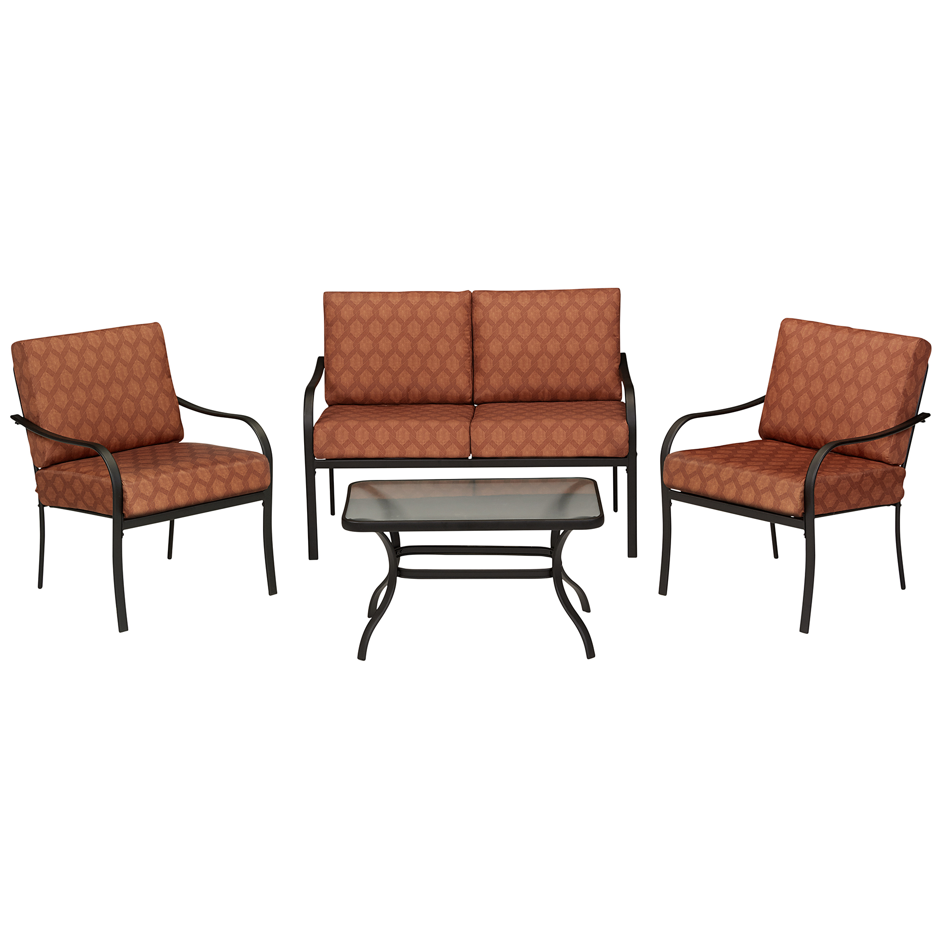 Bailey 4 Piece Seating Set - Terracotta - Outdoor Living ... on Casual Living Patio id=53670