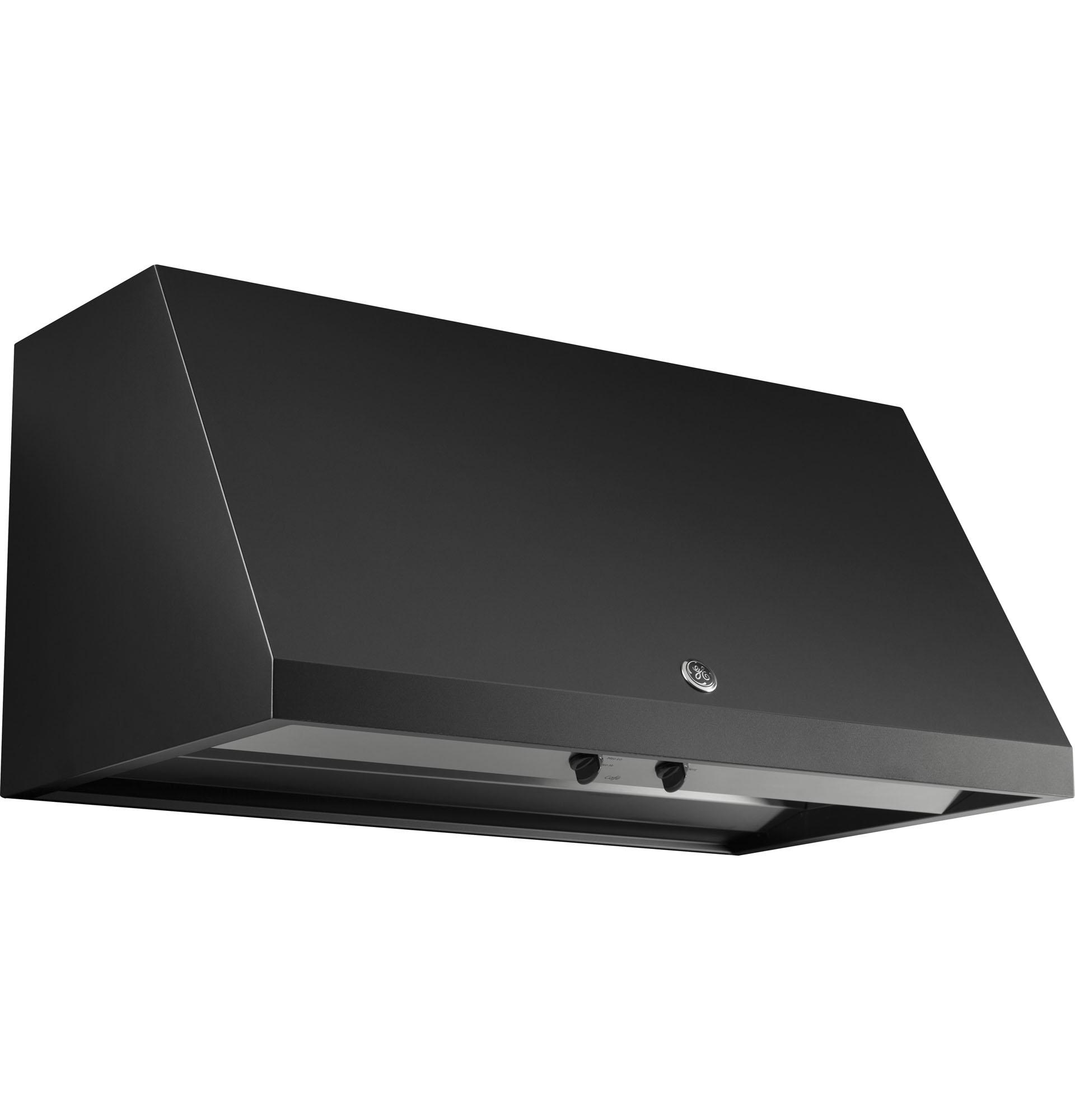 GE Cafe Series CV936EKDS 30 Designer Range Hood Black Slate