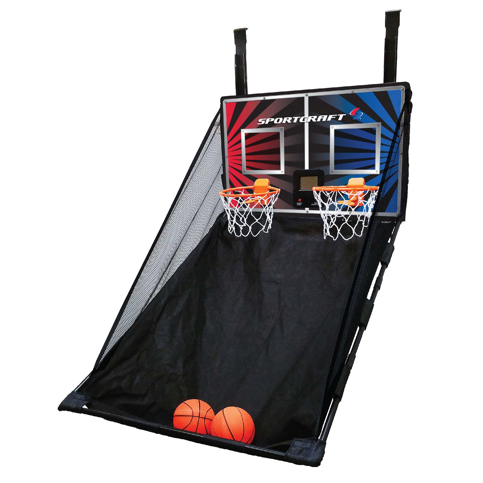 Sportcraft Over The Door Double Hoop Basketball Game