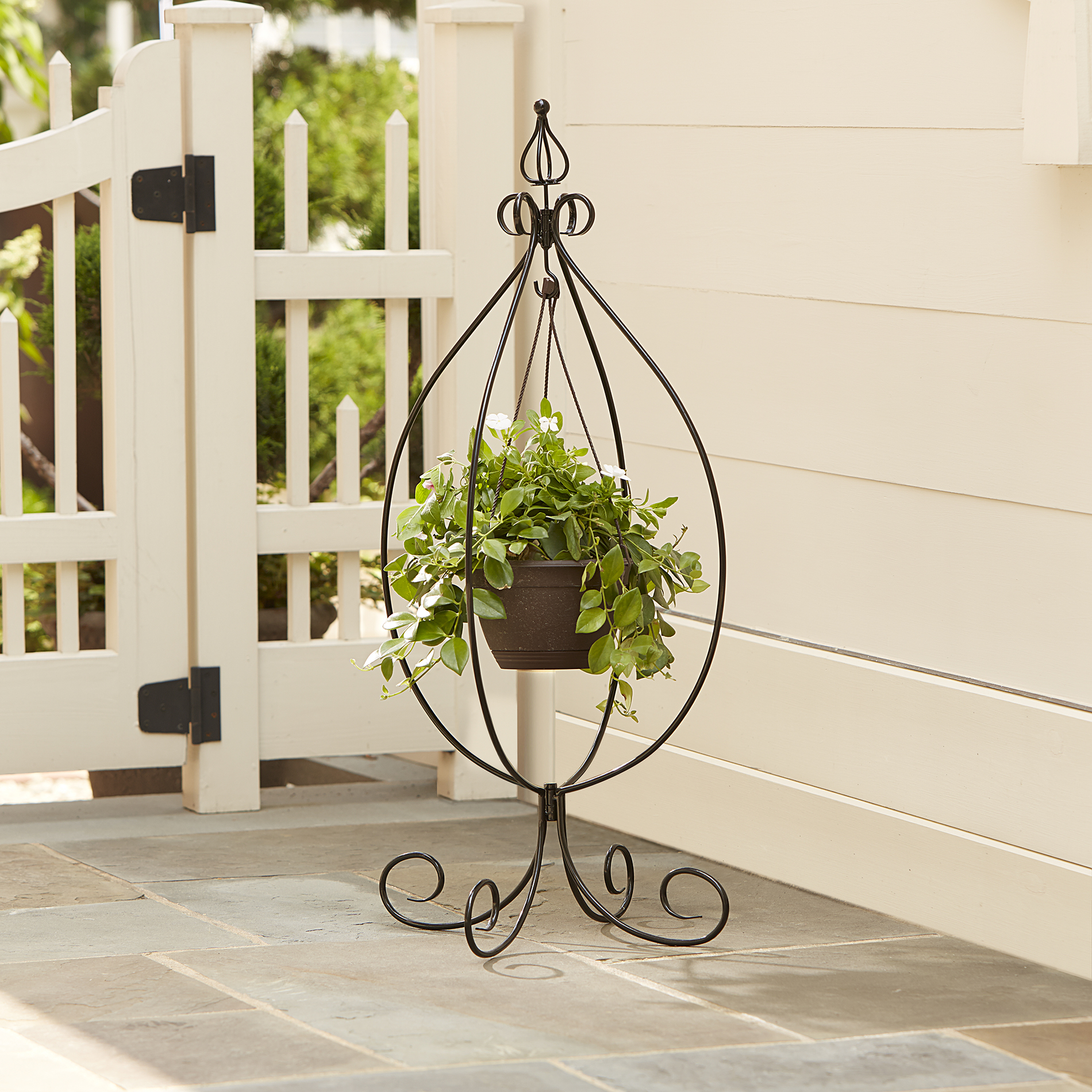 Essential Garden Hanging Basket Plant Stand | Shop Your ... on Hanging Plants Stand Design  id=30777