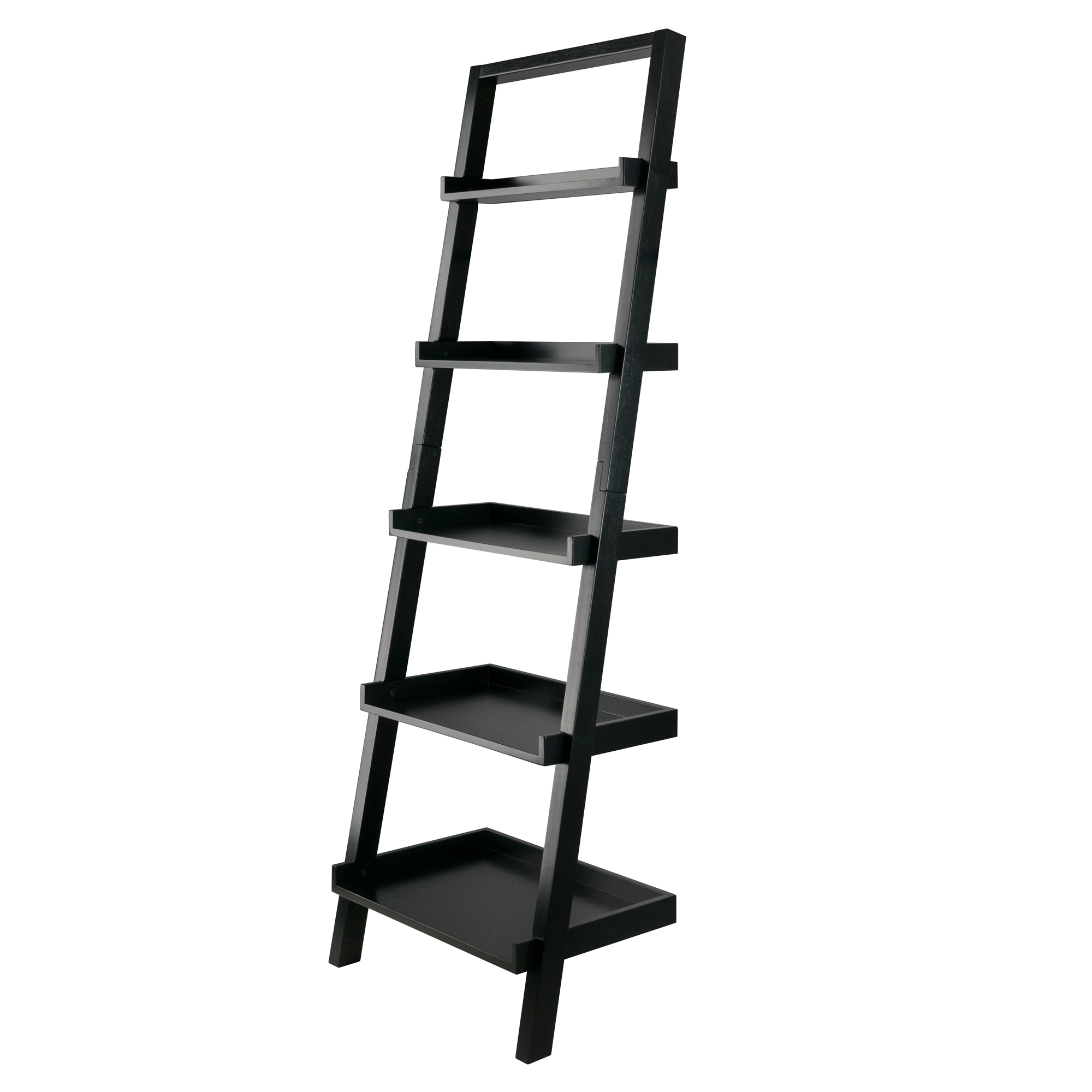 Winsome Wood Bellamy Leaning Shelf Black Finish