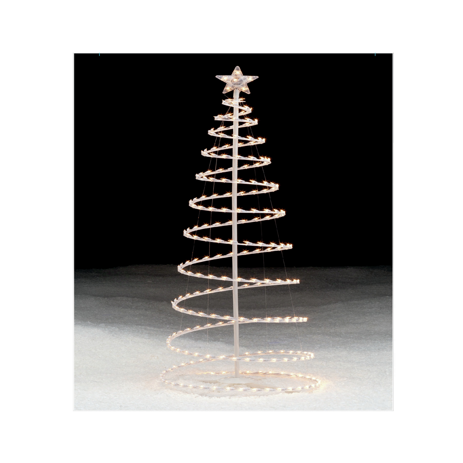 Trim A Home Lighted Clear Spiral Christmas Tree 6 Ft