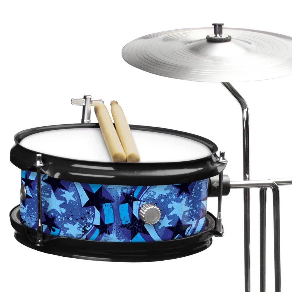 First Act Discovery Jr  Drum Set   Designer Blue Swirls Stars
