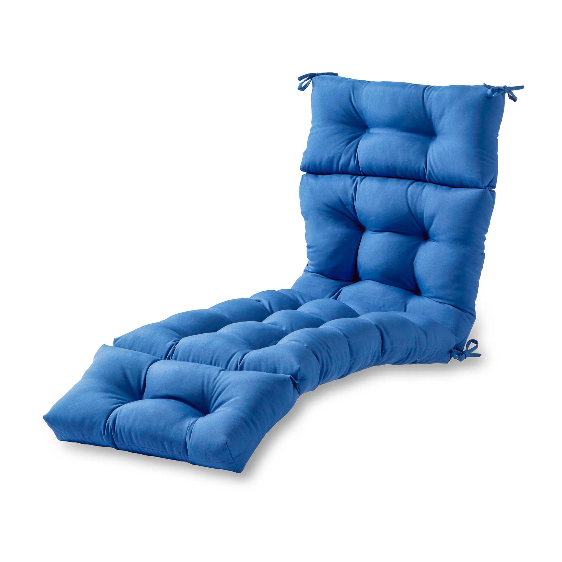 Greendale Home Fashions 72 In Outdoor Chaise Lounger Cushion Marine Blue