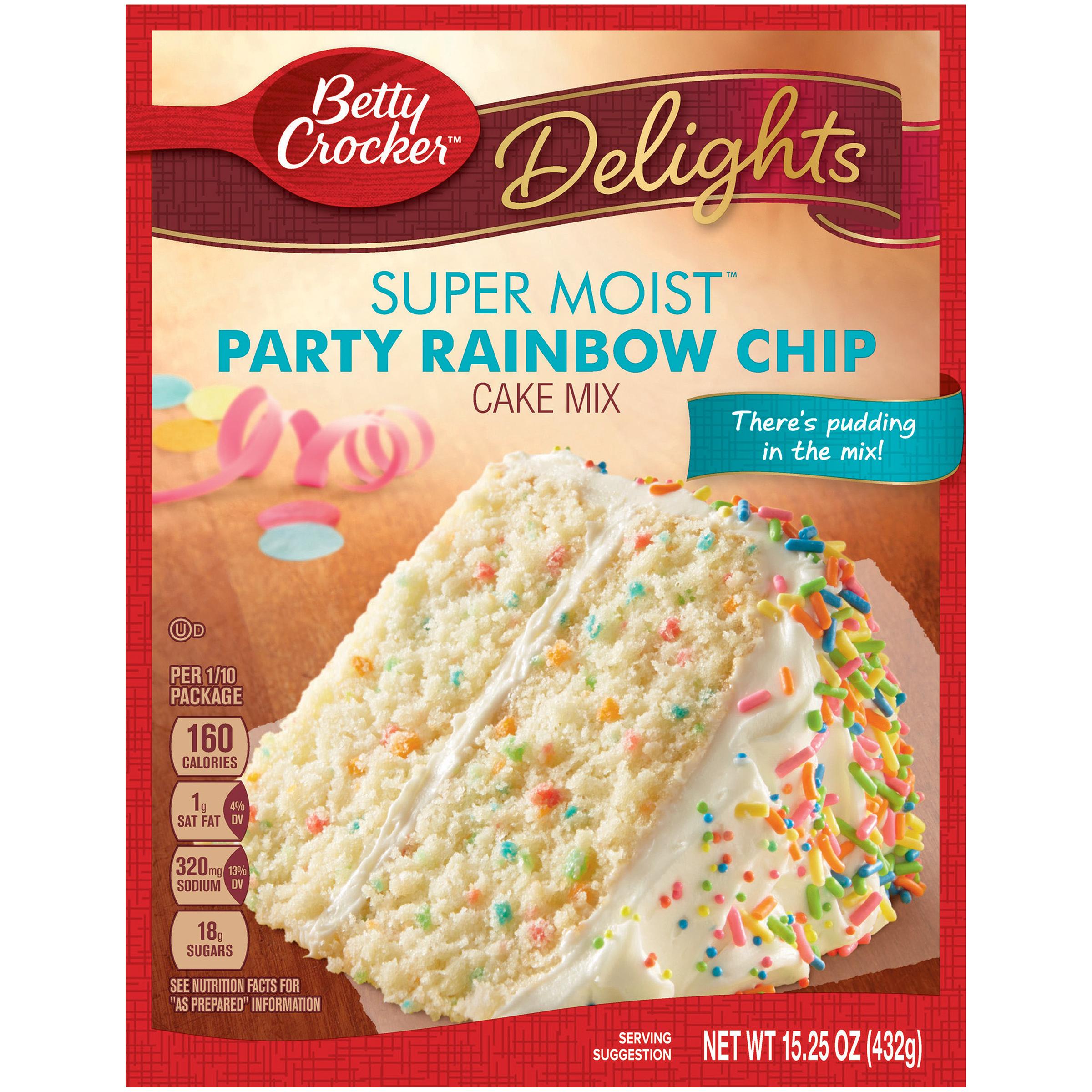 Betty Crocker Super Moist Cake Mix Party Rainbow Chip 15