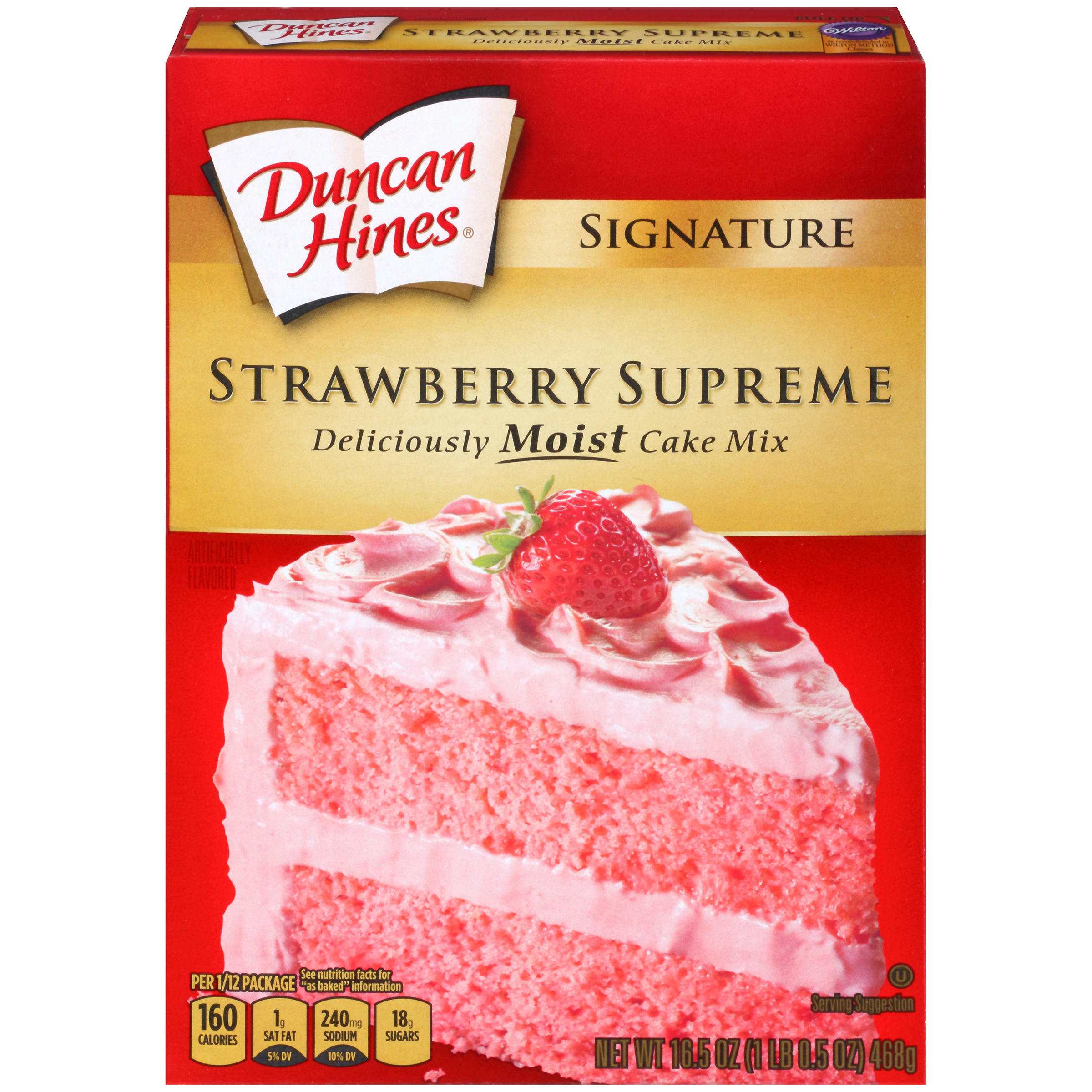 Duncan Hines Signature Strawberry Supreme Cake Mix Food