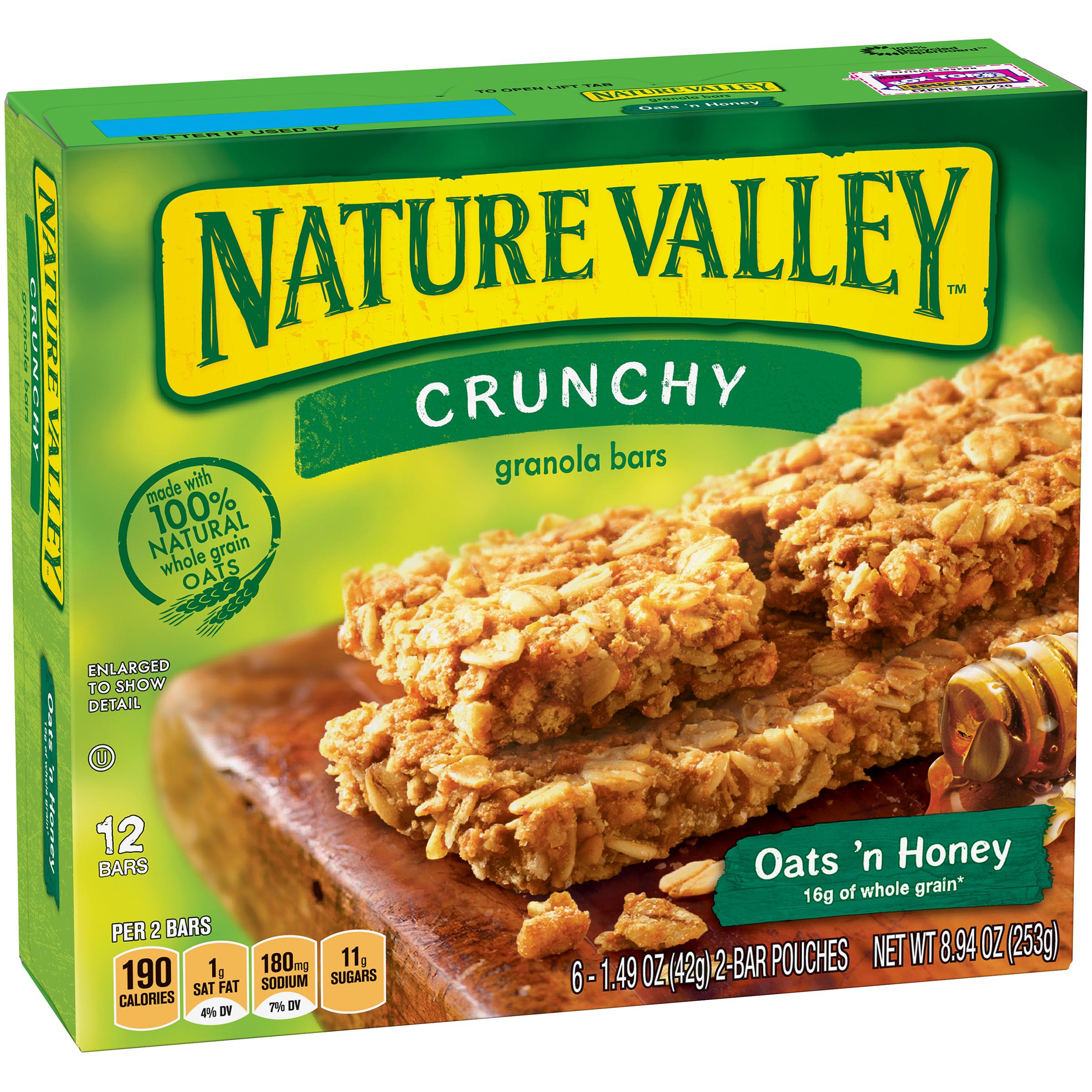 Nature Valley Granola Bars Crunchy Oats N Honey 6 1