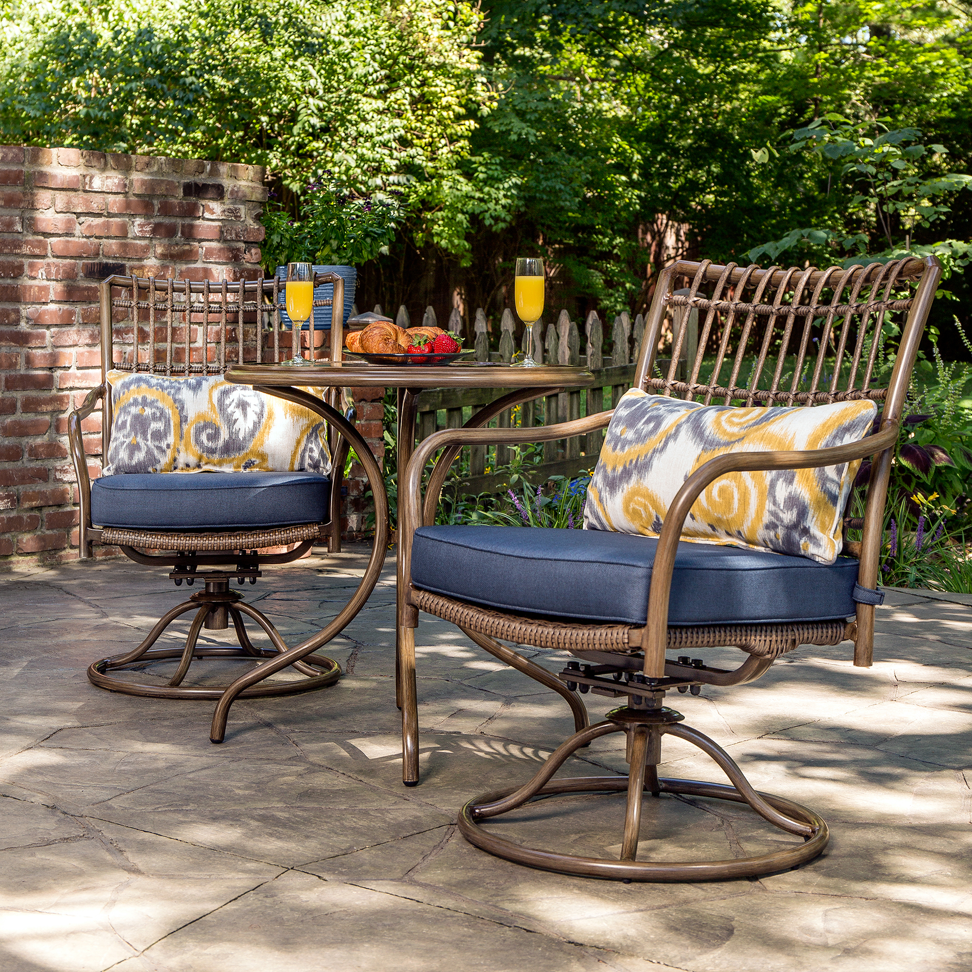 small outdoor patio furniture sets La-Z-Boy Outdoor Beckett 3pc Bistro Set *Limited