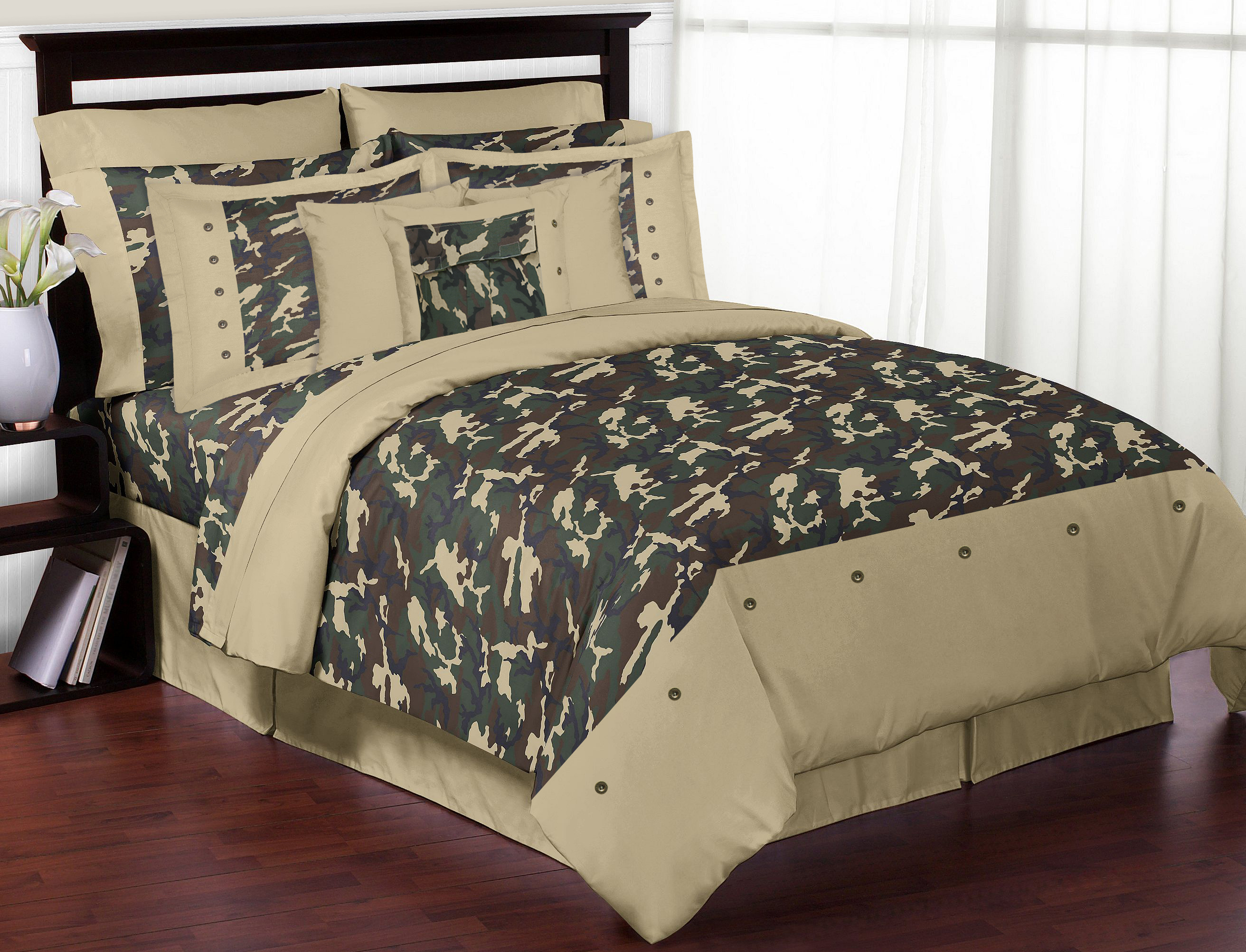 Sweet Jojo Designs Camo Green Collection 3pc Full/Queen