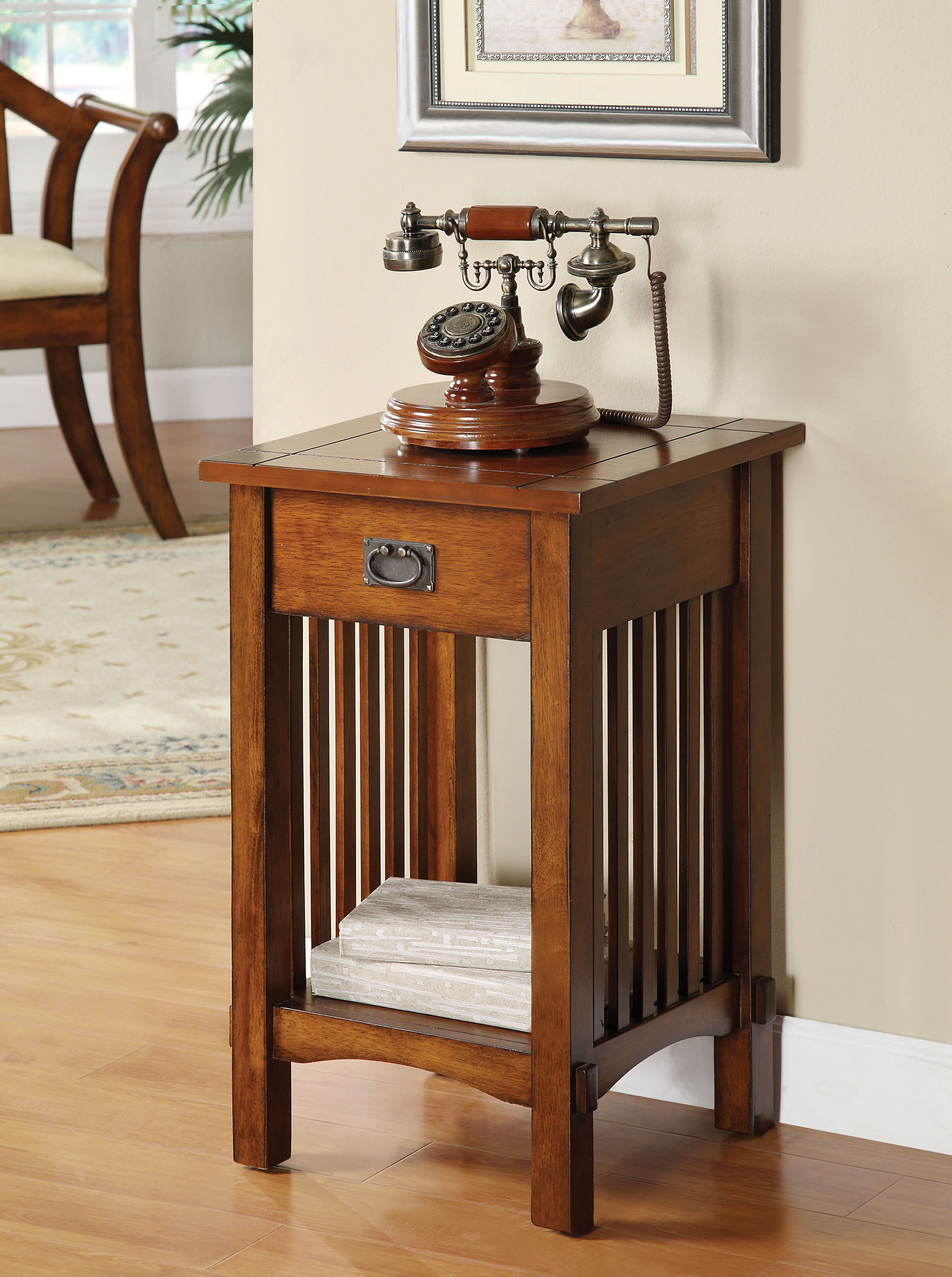 Furniture Of America Monka Mission Antique Oak Side Table