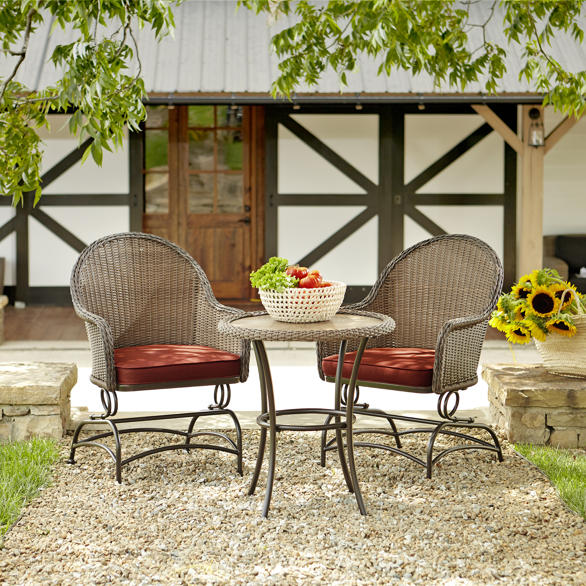 green hickory grove 3 rocker bistro set on Green Bistro Set id=30241