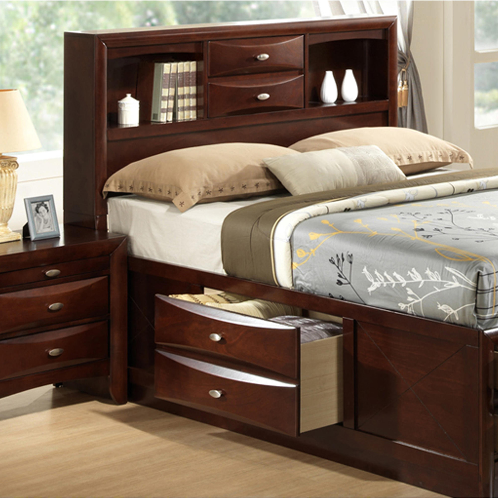 Roundhill Furniture Emily 111 King Storage Bed Sears