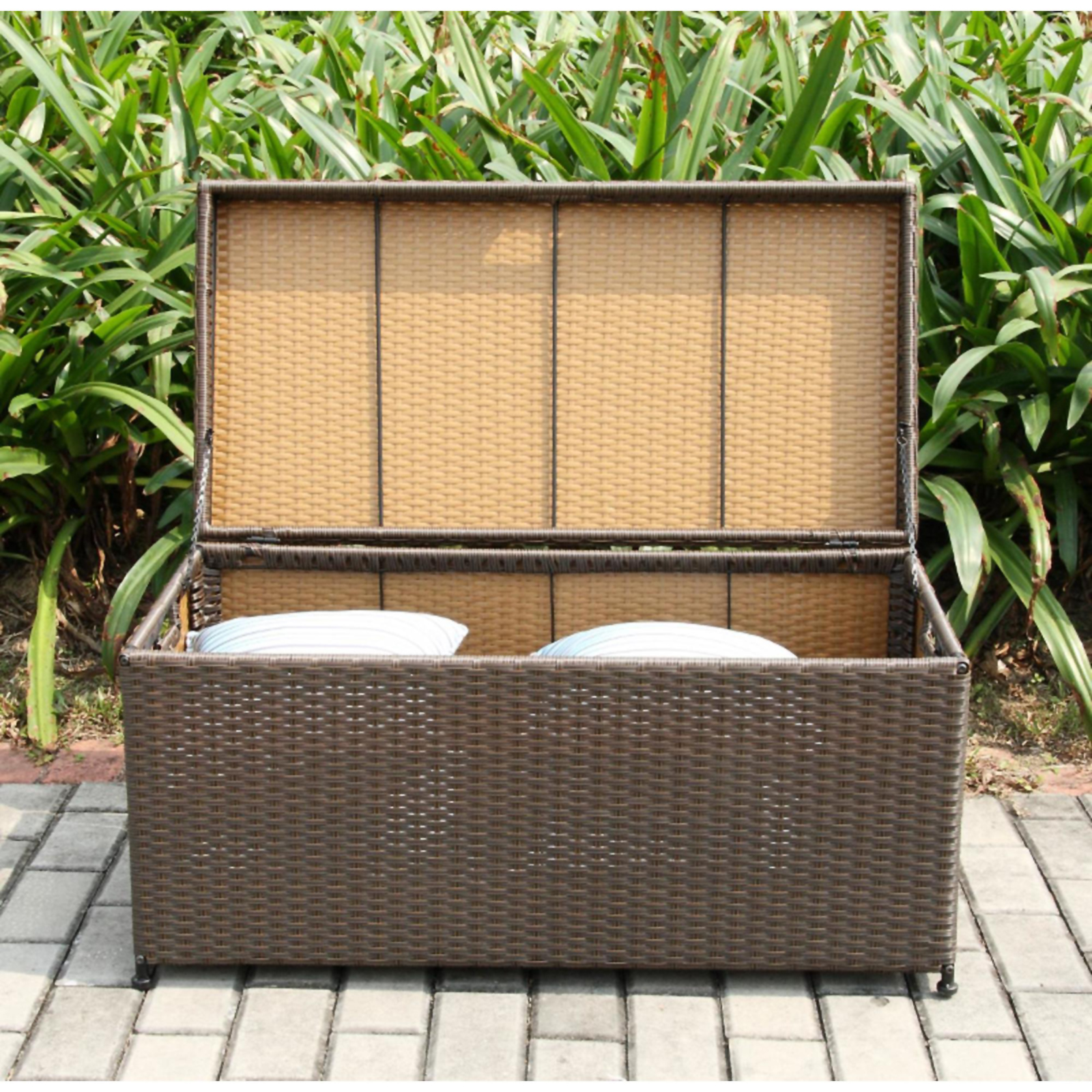 CC Outdoor Living Wicker Hinged Storage Deck Box - Sears ... on Cc Outdoor Living id=45648