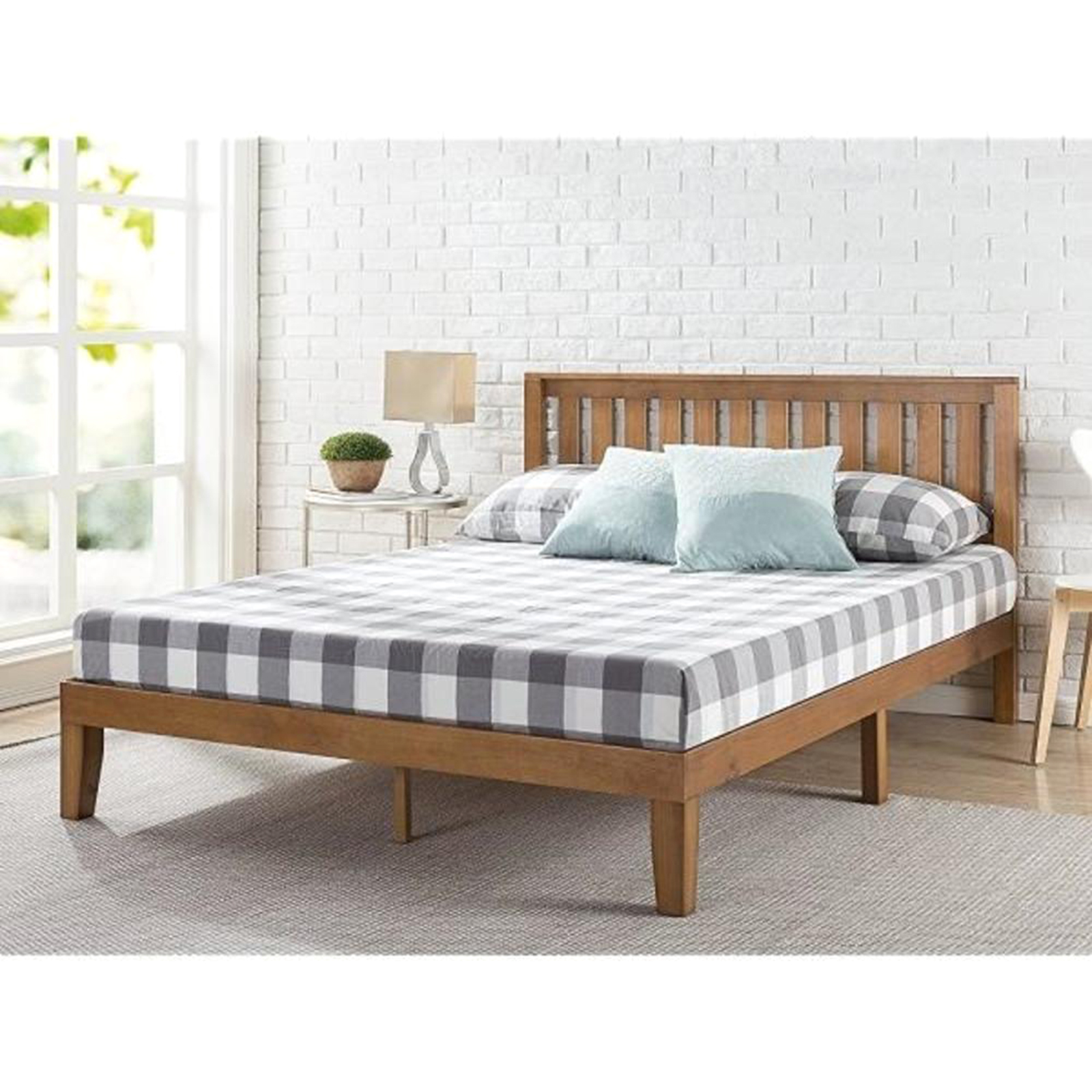 Zinus Queen Wood Platform Bed Frame Sears Marketplace