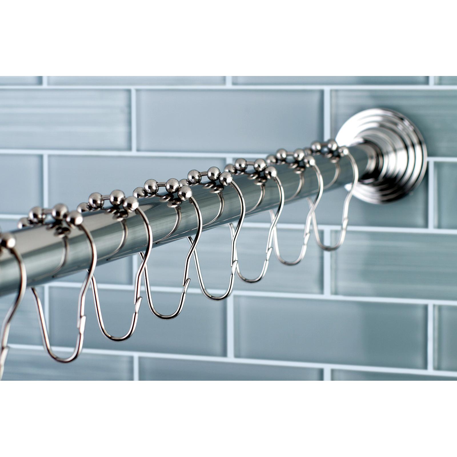 Edenscape Edenscape Kingston Brass Scc2711 Adjustable Shower Rod And Shower Ring Set