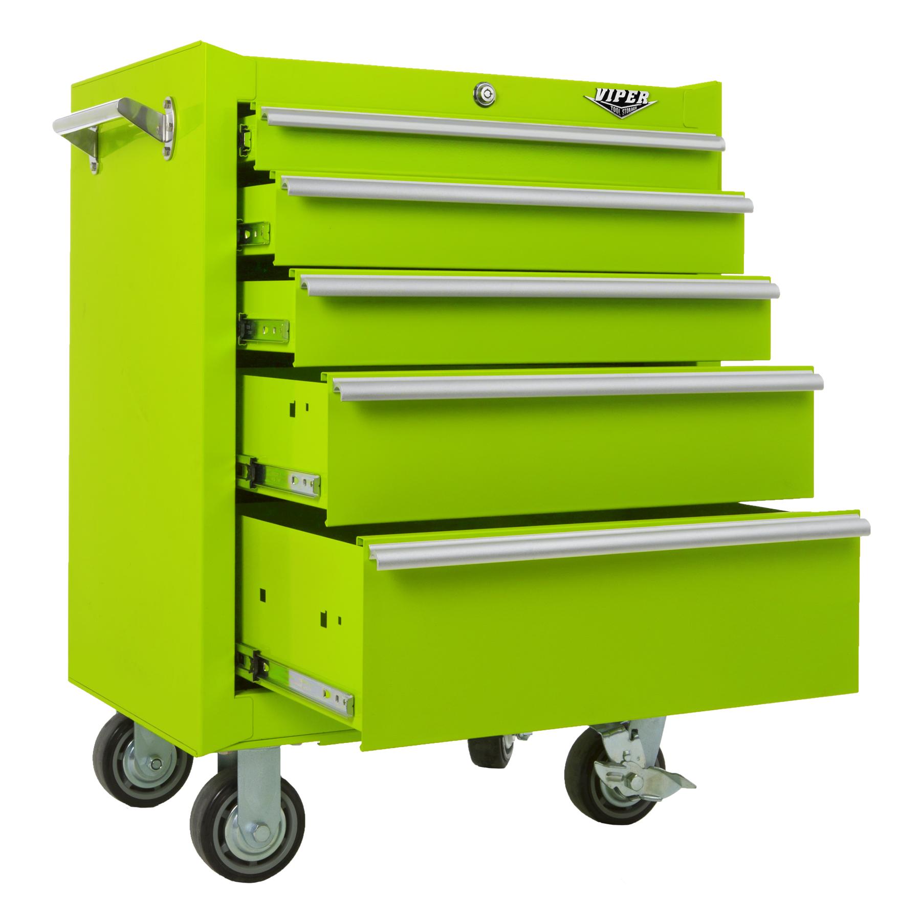 Viper Tool Storage 26 Inch 5 Drawer 18G Steel Roller