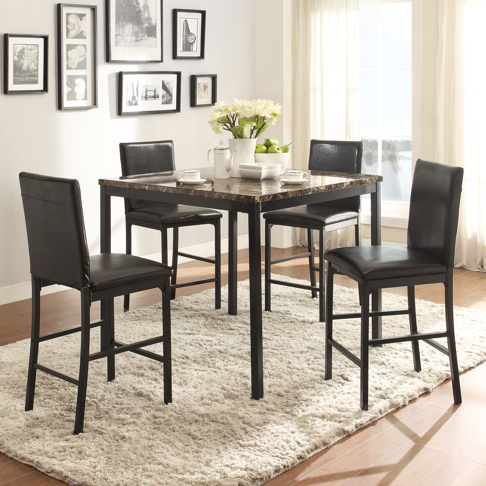 Set Top Table Marble Dining