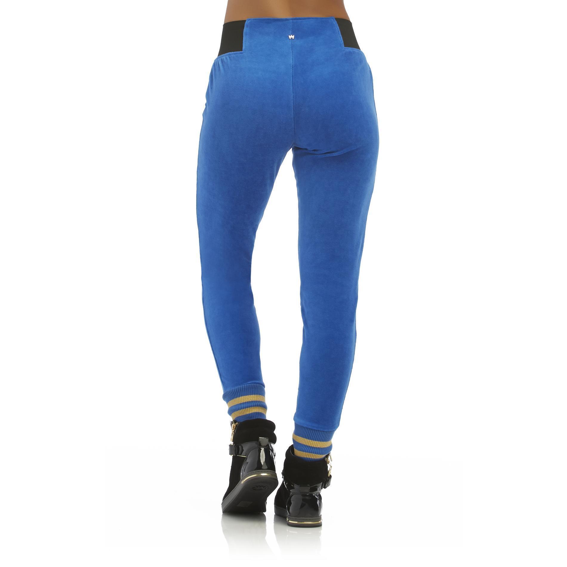 Nicki Minaj Women's Velour Jogger Pants - Clothing - Women ...