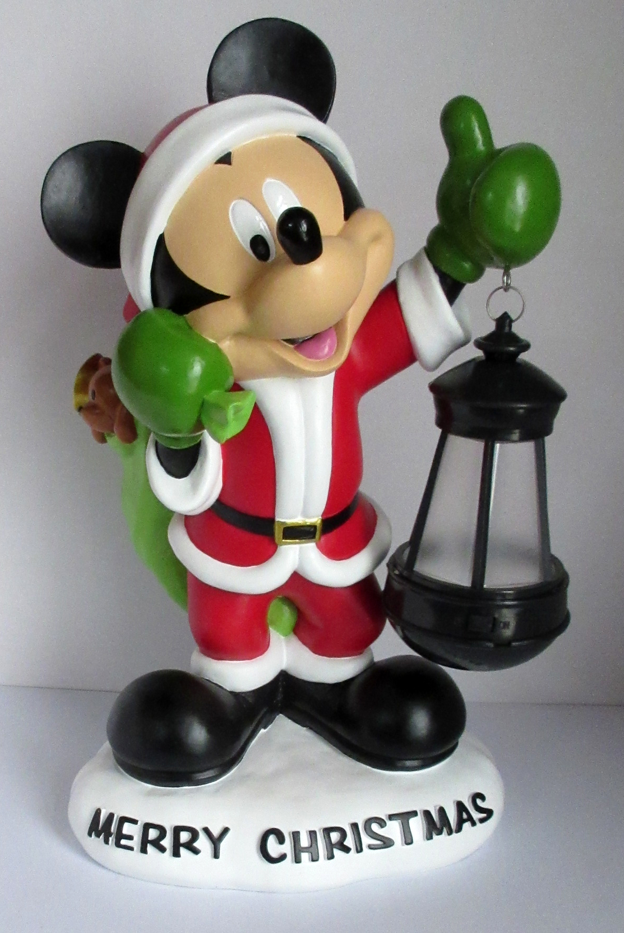 Disney Christmas 13 Mickey Mouse In Santa Suit Statue