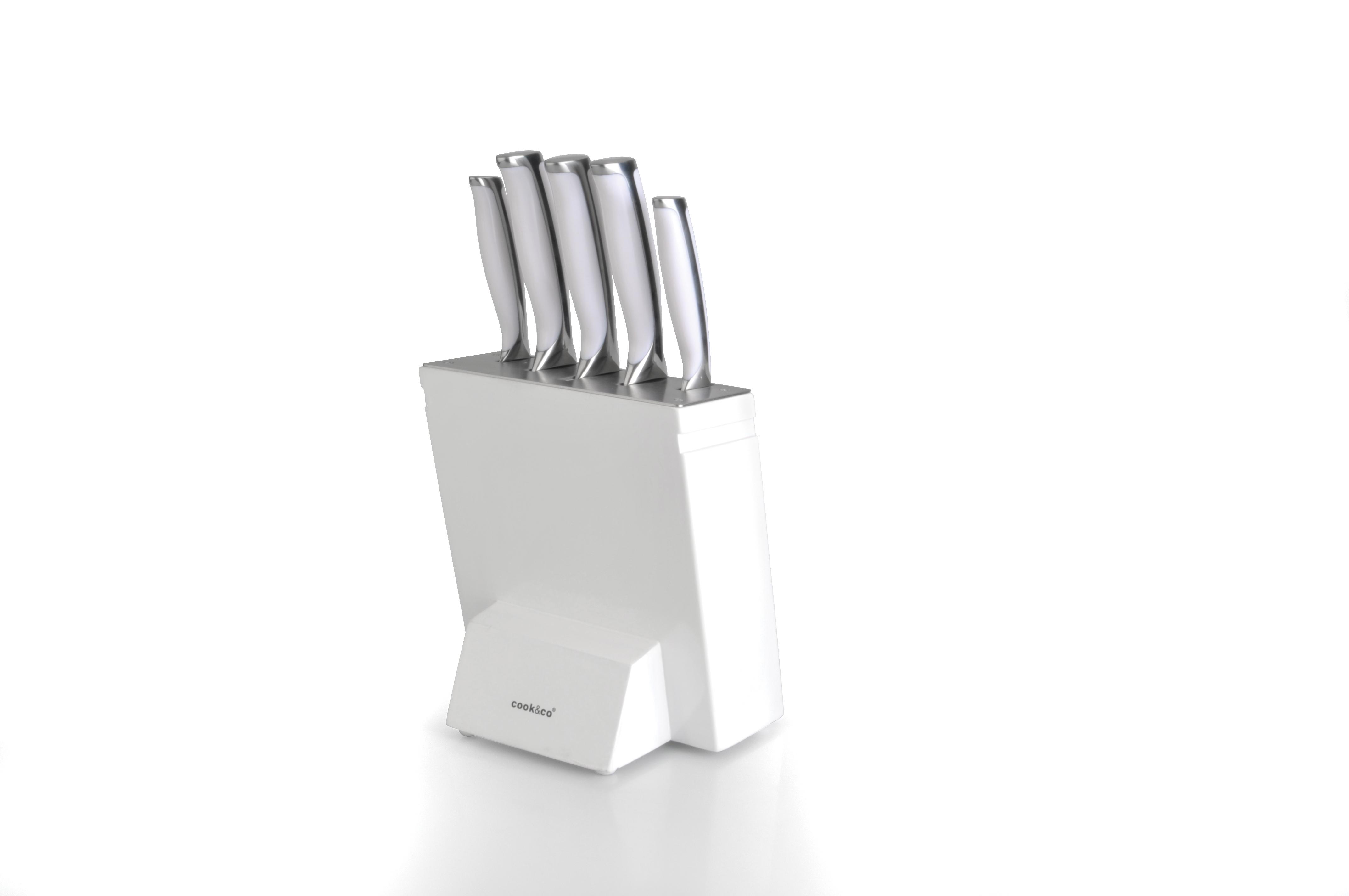 White Kitchen Knife Block