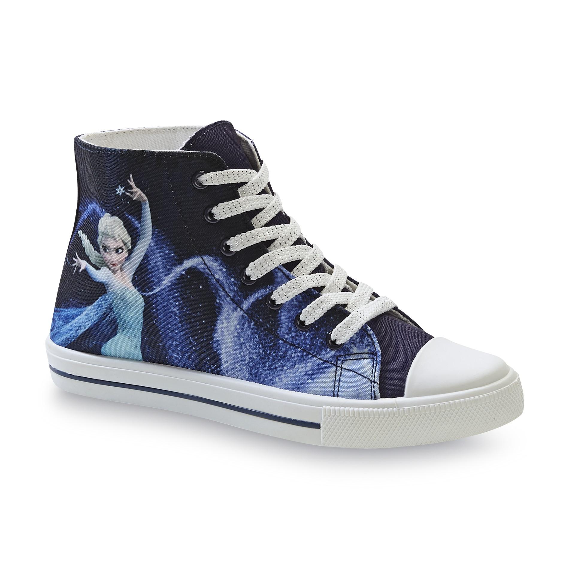 Disney Frozen Womens Blue High Top Sneaker Shoes