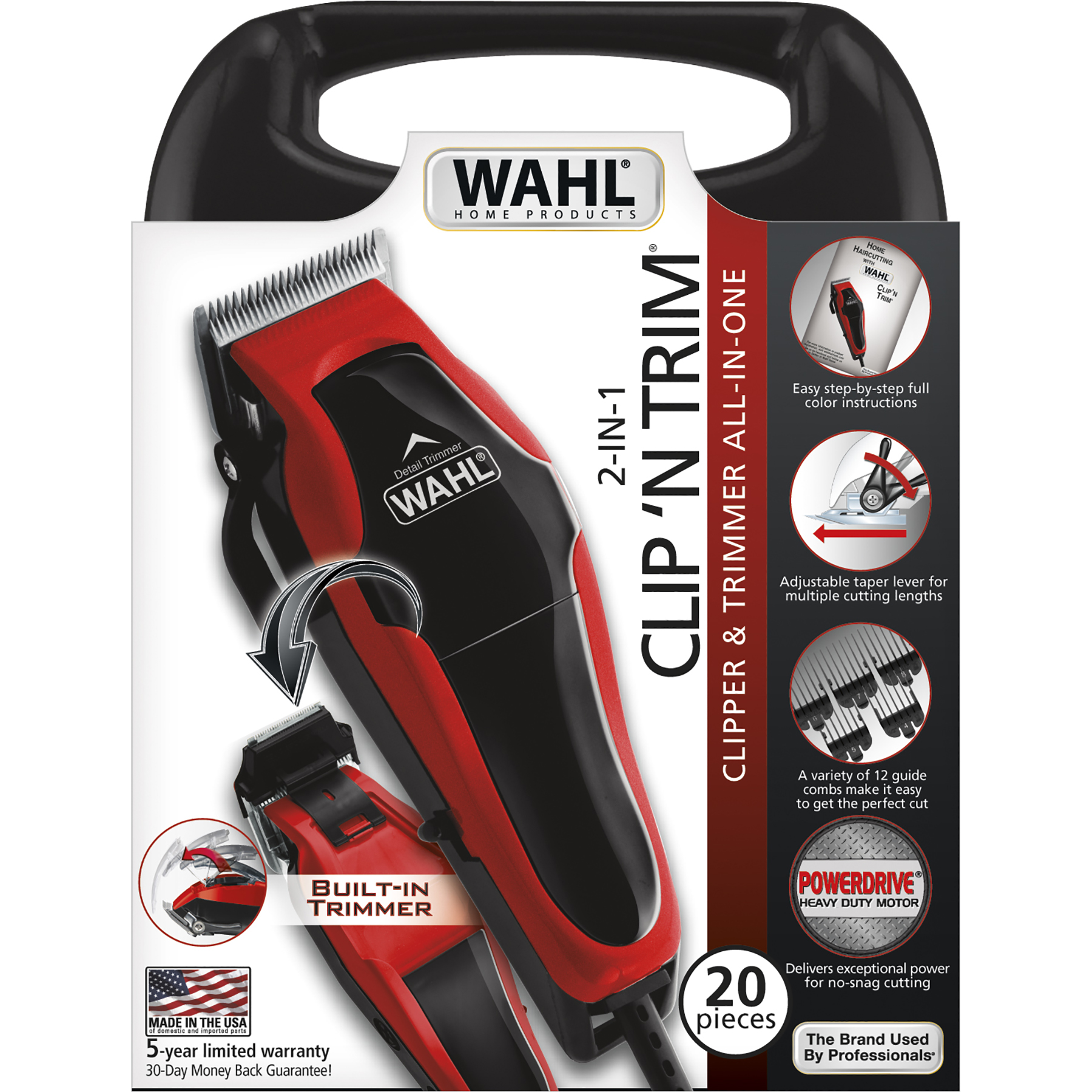 Wahl Clip N Trim Complete Hair Cutting Kit 23 Pieces