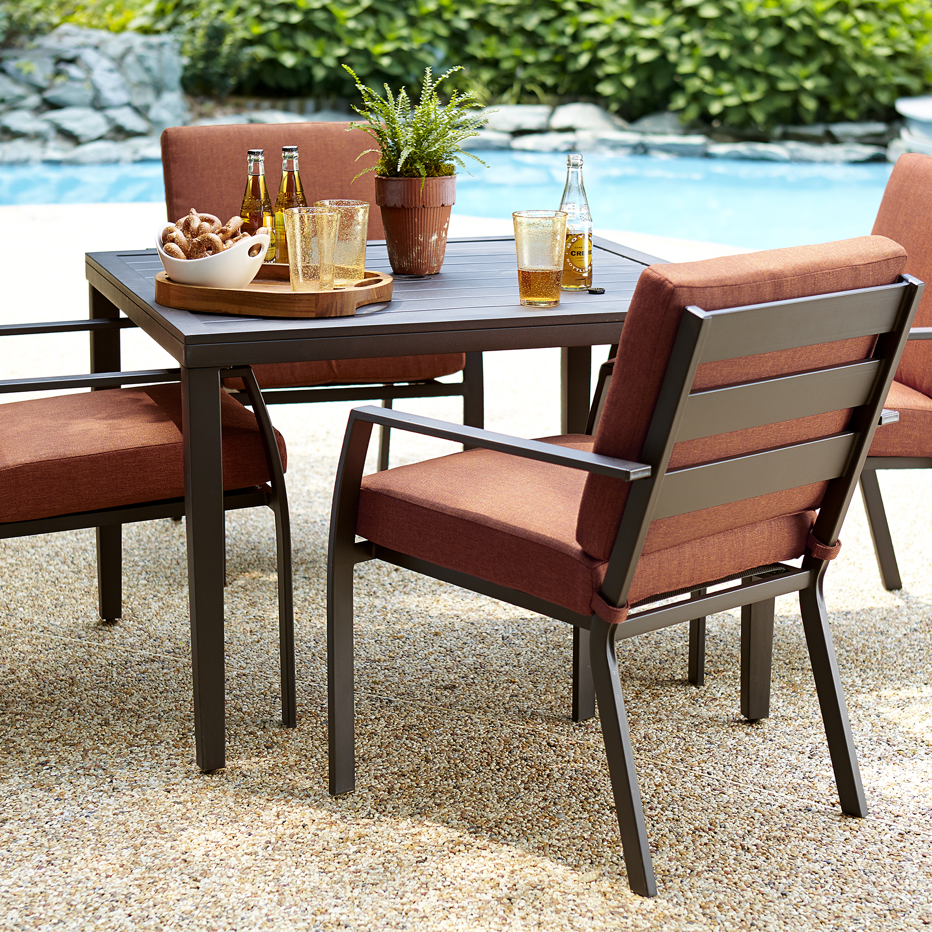 outdoor patio furniture sets Ty Pennington Brookline 5 Piece Dining Set - Limited