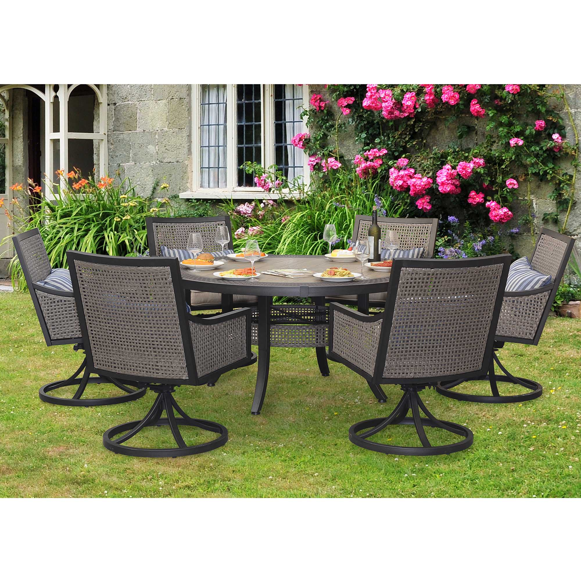 sears patio furniture sets Sunjoy 7-Piece Myna Patio Dining Set