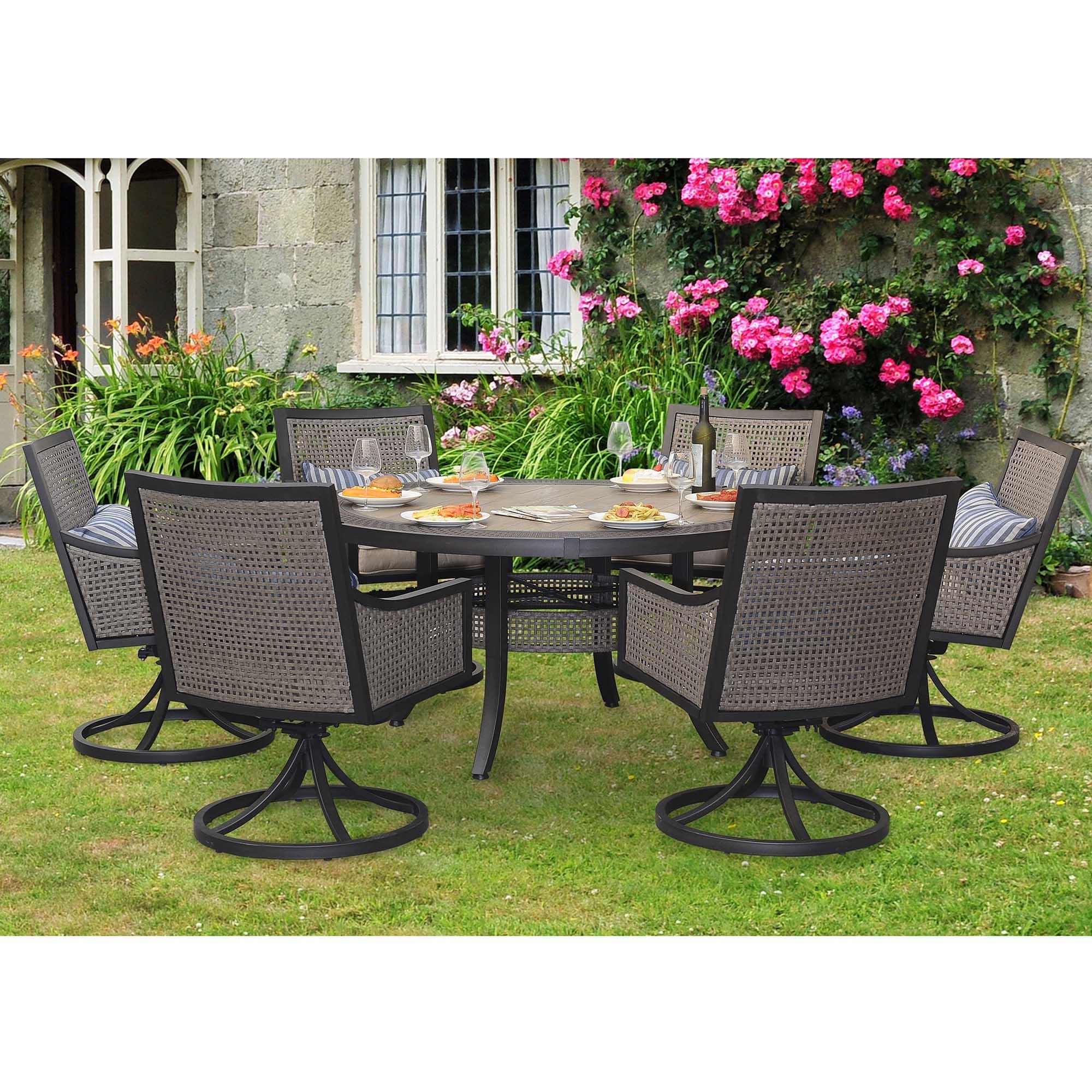 sears patio furniture dining sets Sunjoy 7-Piece Myna Patio Dining Set