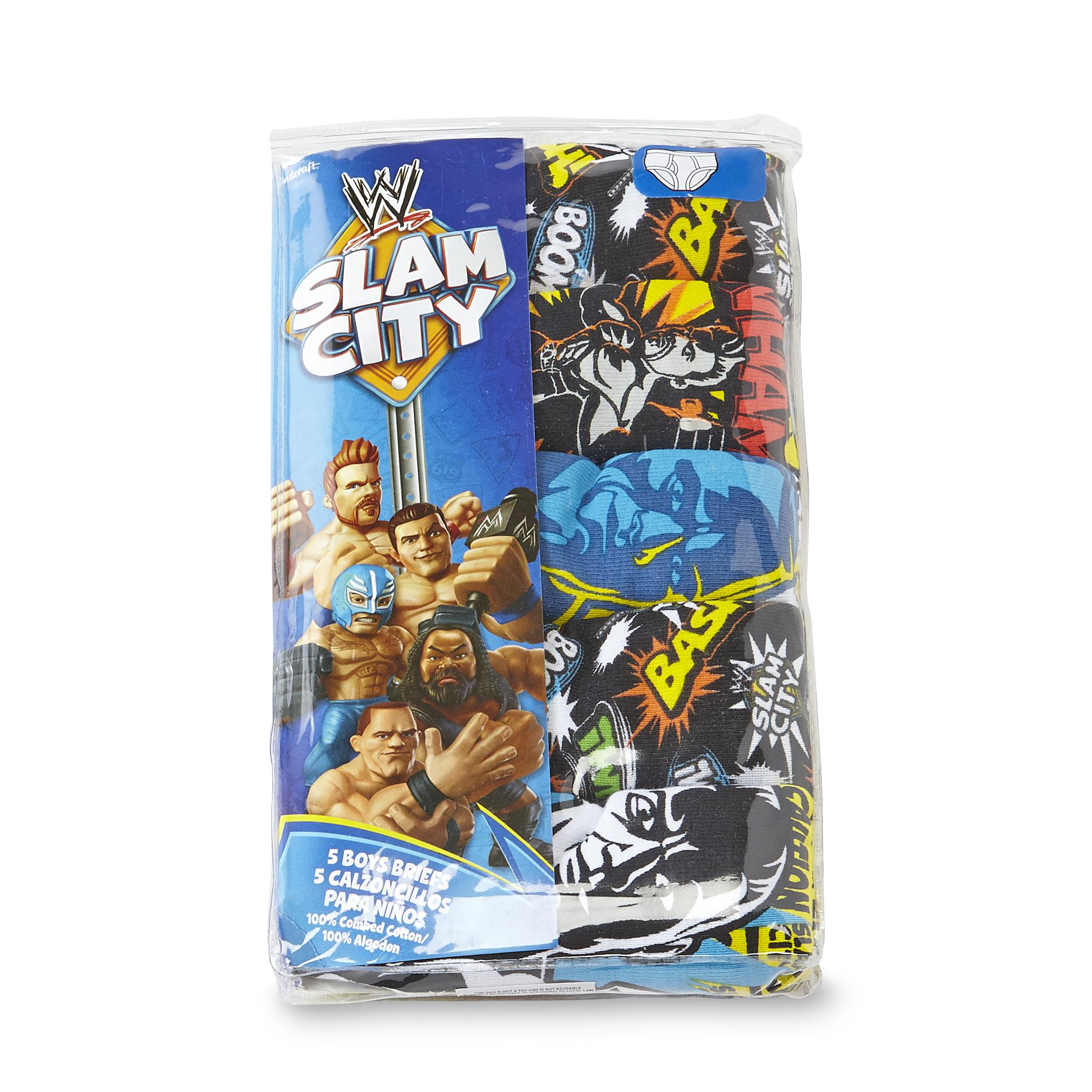 WWE Boys 5 Pack Underwear Slam City