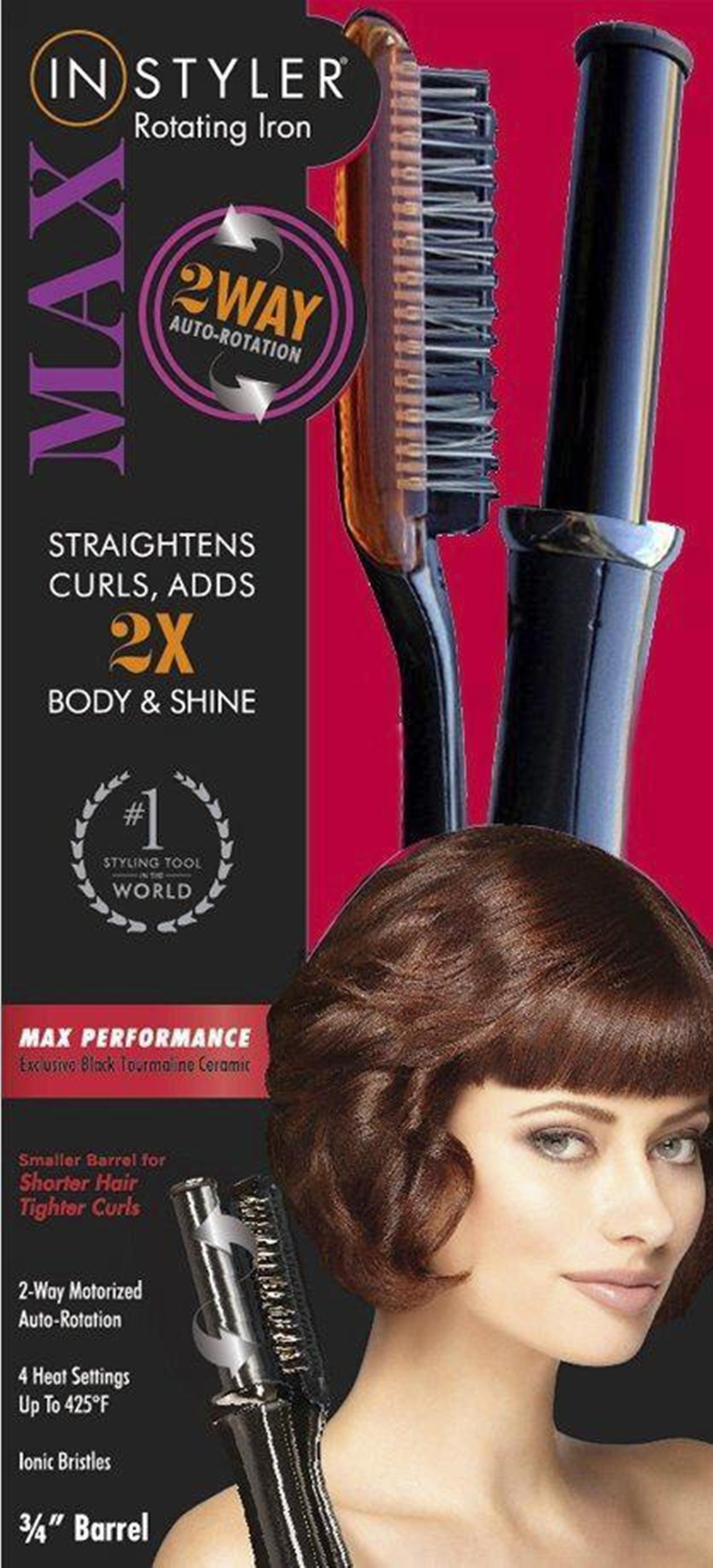 InStyler Max Hair Styler W 2 Way Auto Rotation Black 3