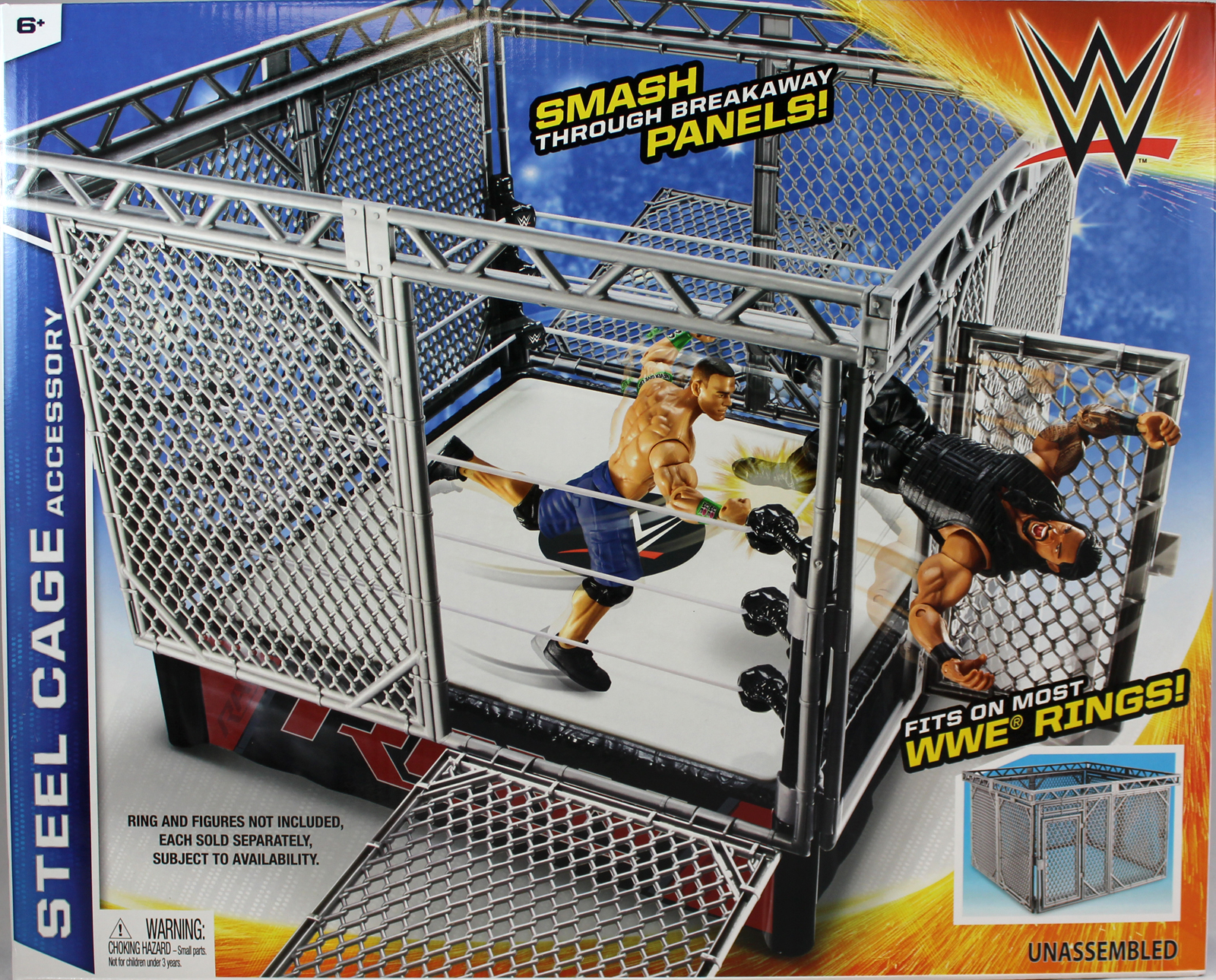 WWE Steel Cage Accessory Toy Wrestling Action Figure