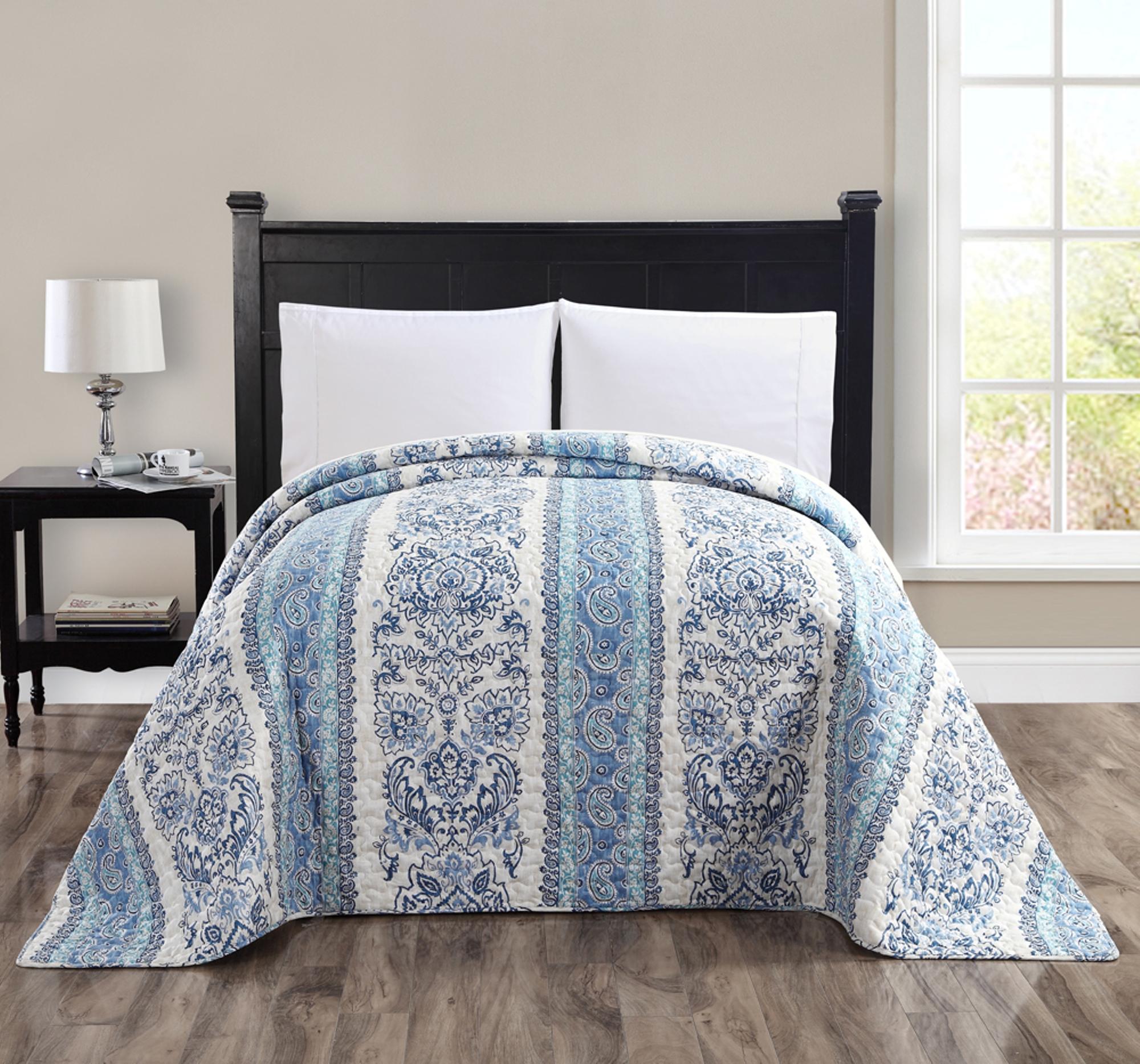 Sandisk Medallion Bedspread Blue Multi
