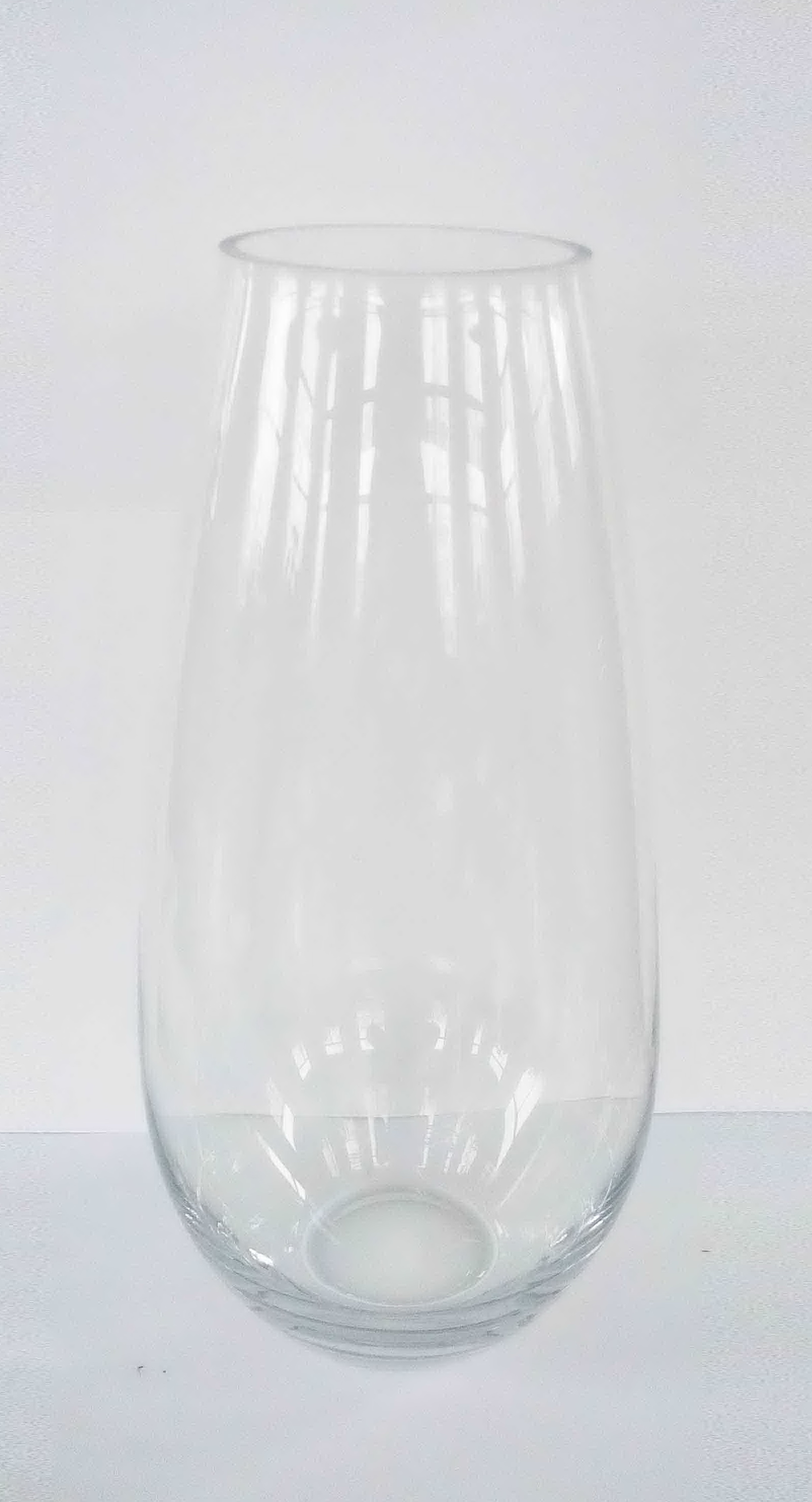 Extra Large Floral Glass Vase Clear