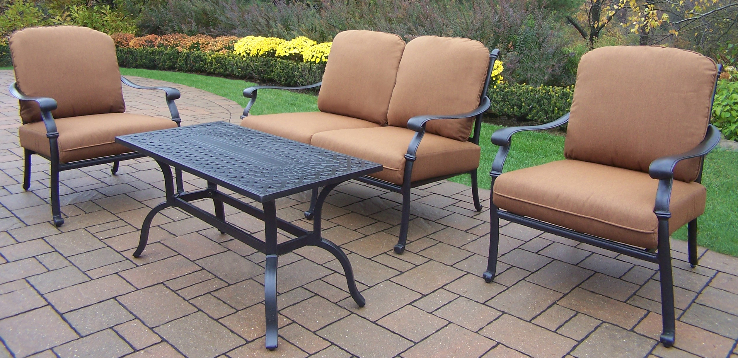 Oakland Living Hampton 4pc Casual Patio Seating Set w ... on Casual Living Patio id=95180