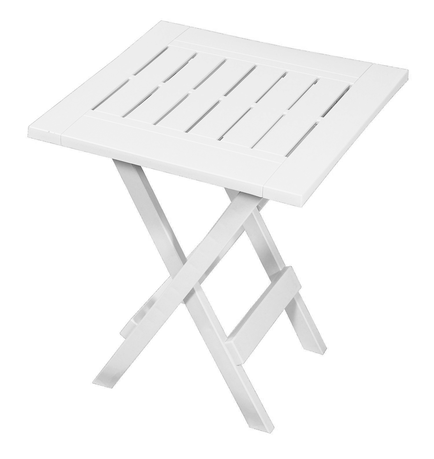 Gracious Living Folding Side Table White Outdoor Living