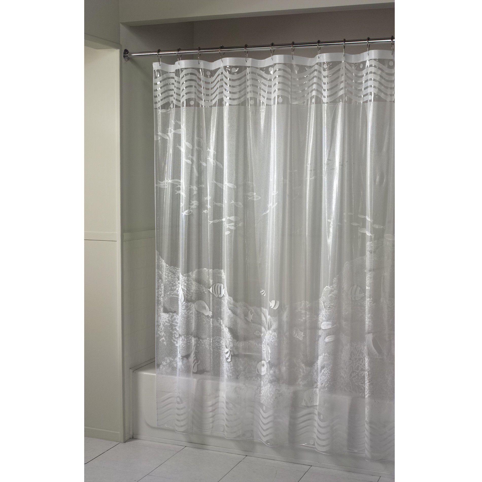Essential Home Shower Curtain Barrier Reef Vinyl