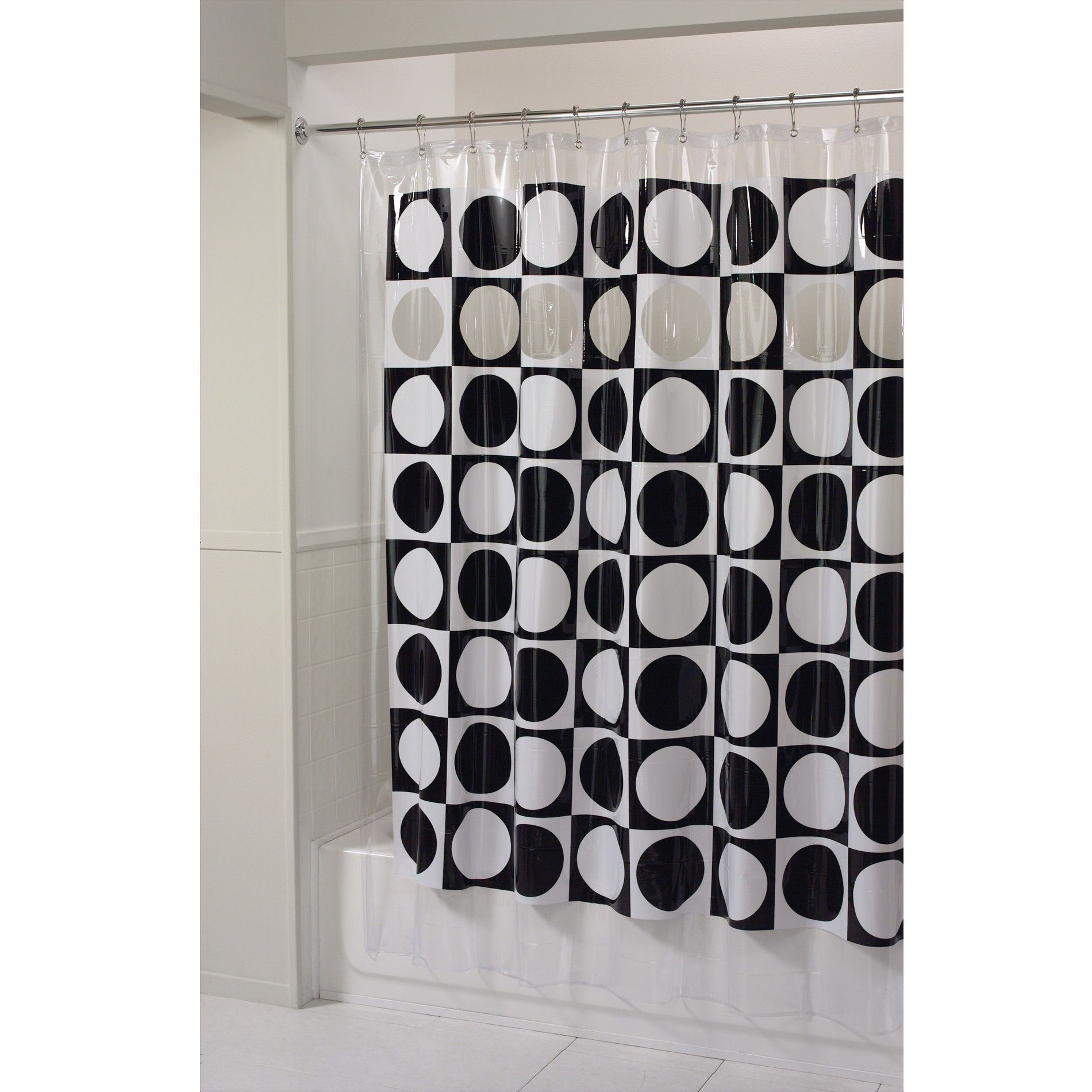 Essential Home Shower Curtain Peek A Boo Vinyl