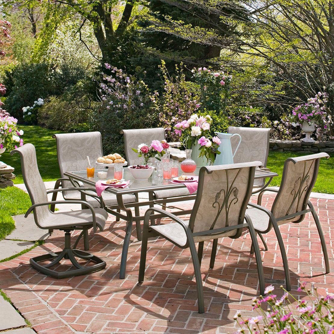 Martha Stewart Everyday Garden Bloomington Dining Chairs ... on Martha Stewart 6 Piece Patio Set id=67972