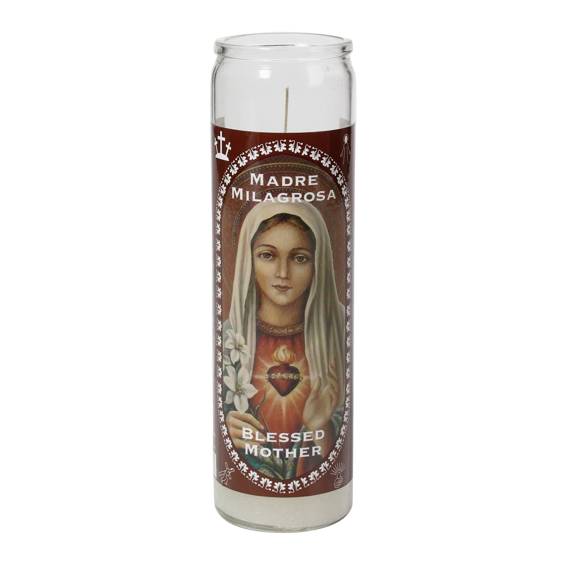 Religious Candles 8 In Blessed Mother Candle