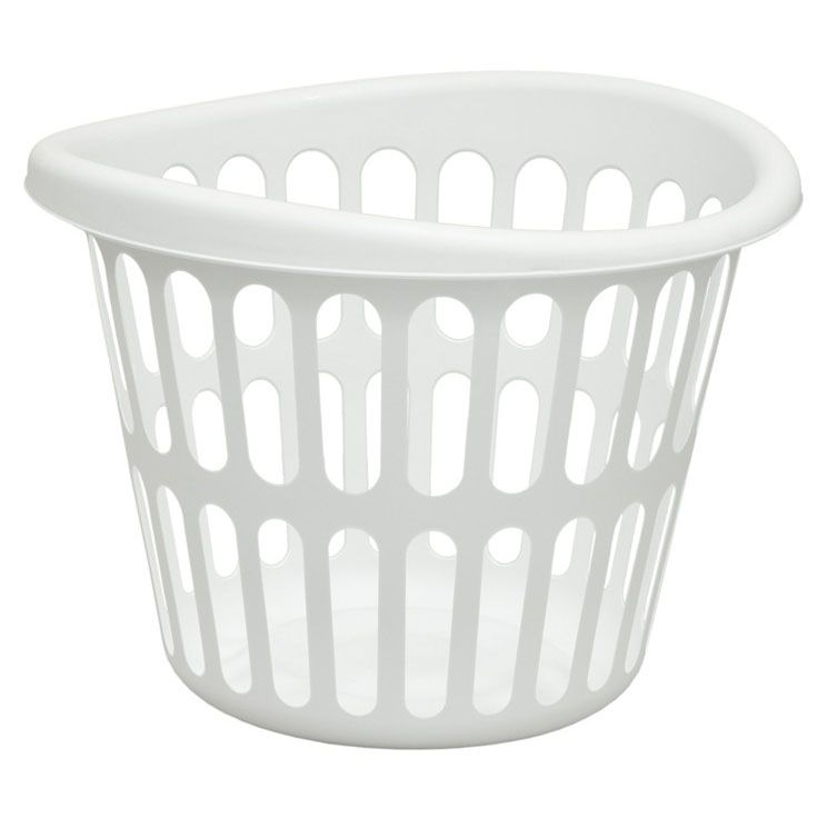 16817611 Round Bushel Laundry Basket White