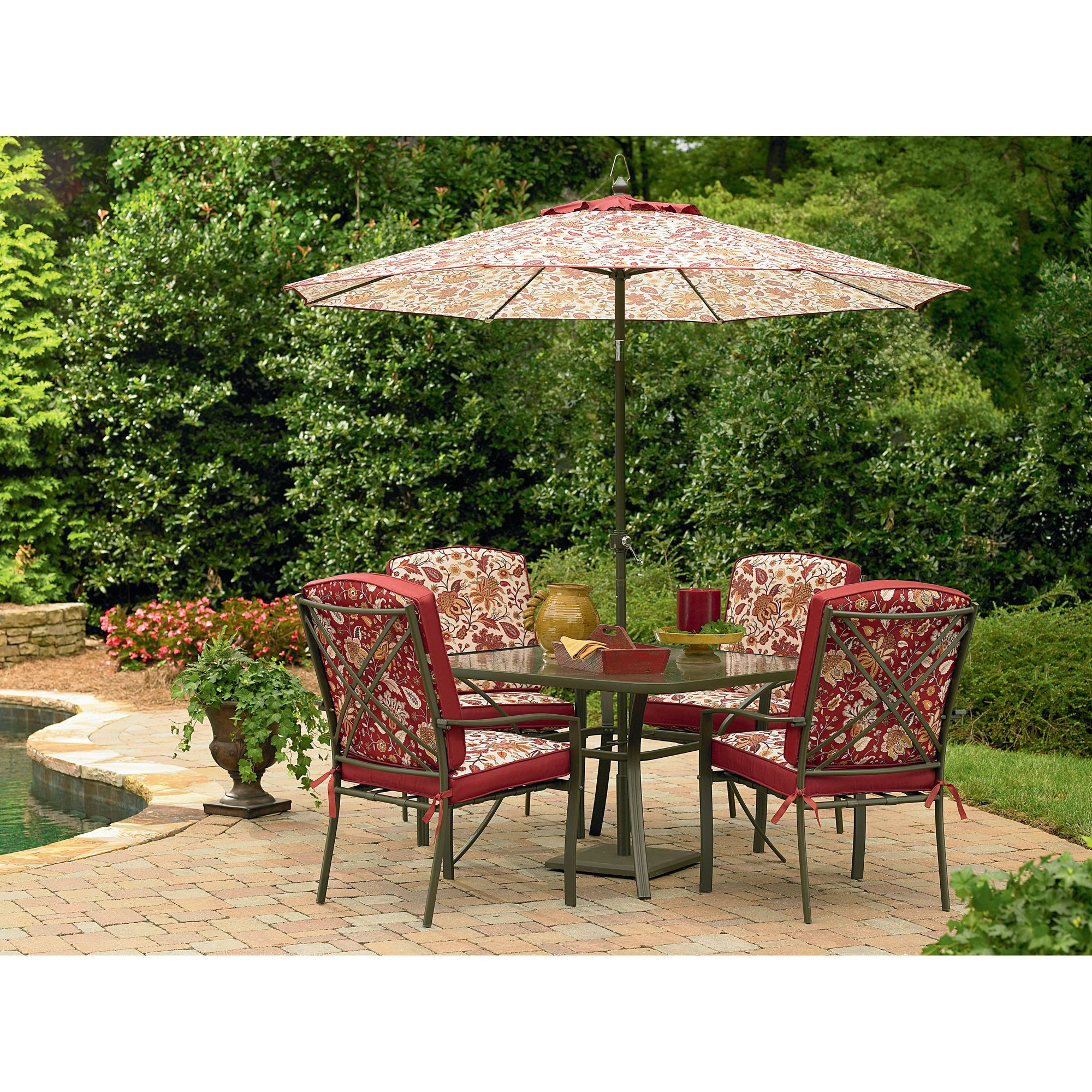 Essential Garden Laurelhurst 4 Cushion Patio Dining Chairs ... on Casual Living Patio id=20102