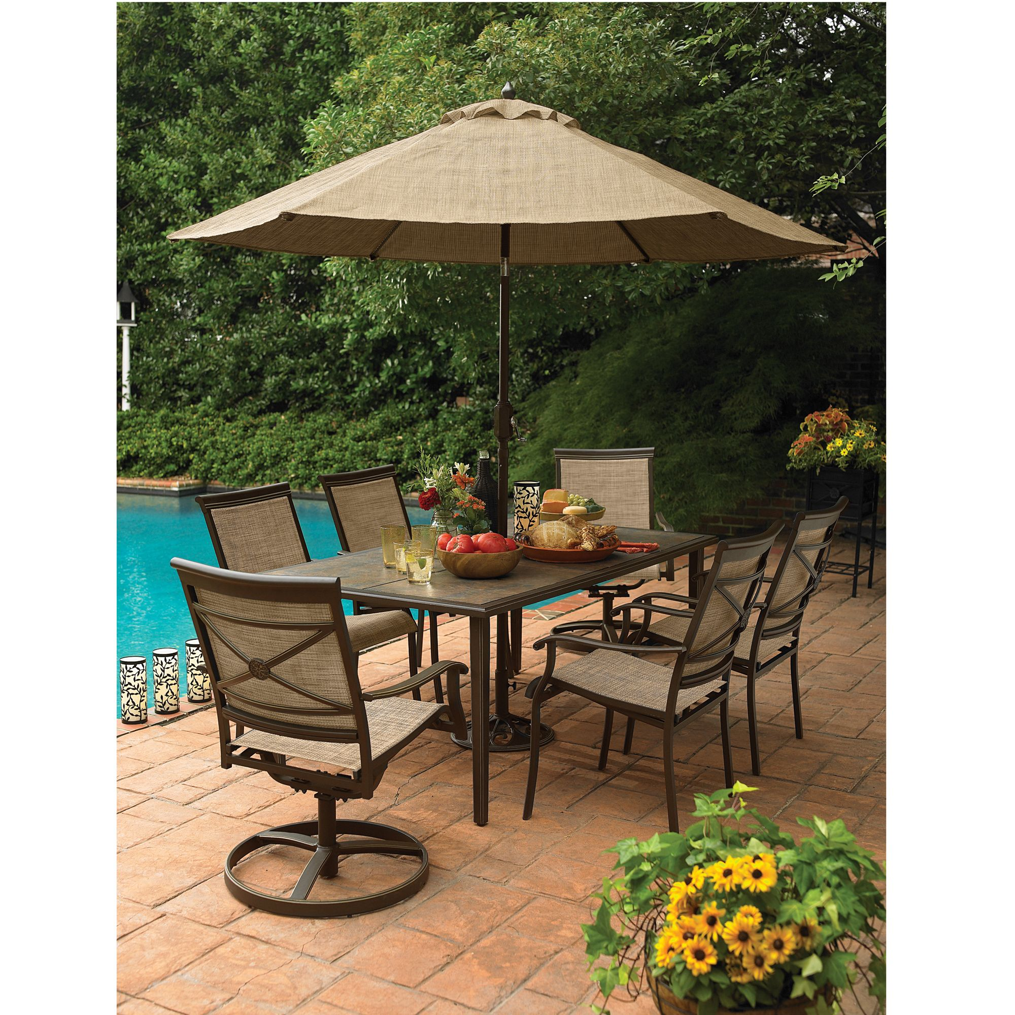 sears patio furniture dining sets Country Living - AS-J-252-3RSET7 - Ashmore 7-Piece Dining