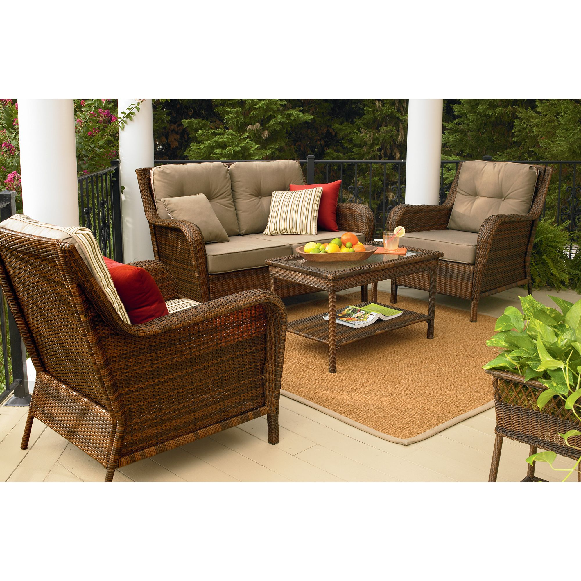 sears patio furniture sets Ty Pennington Style Mayfield 4 Pc. Deep Seating Set - Sears