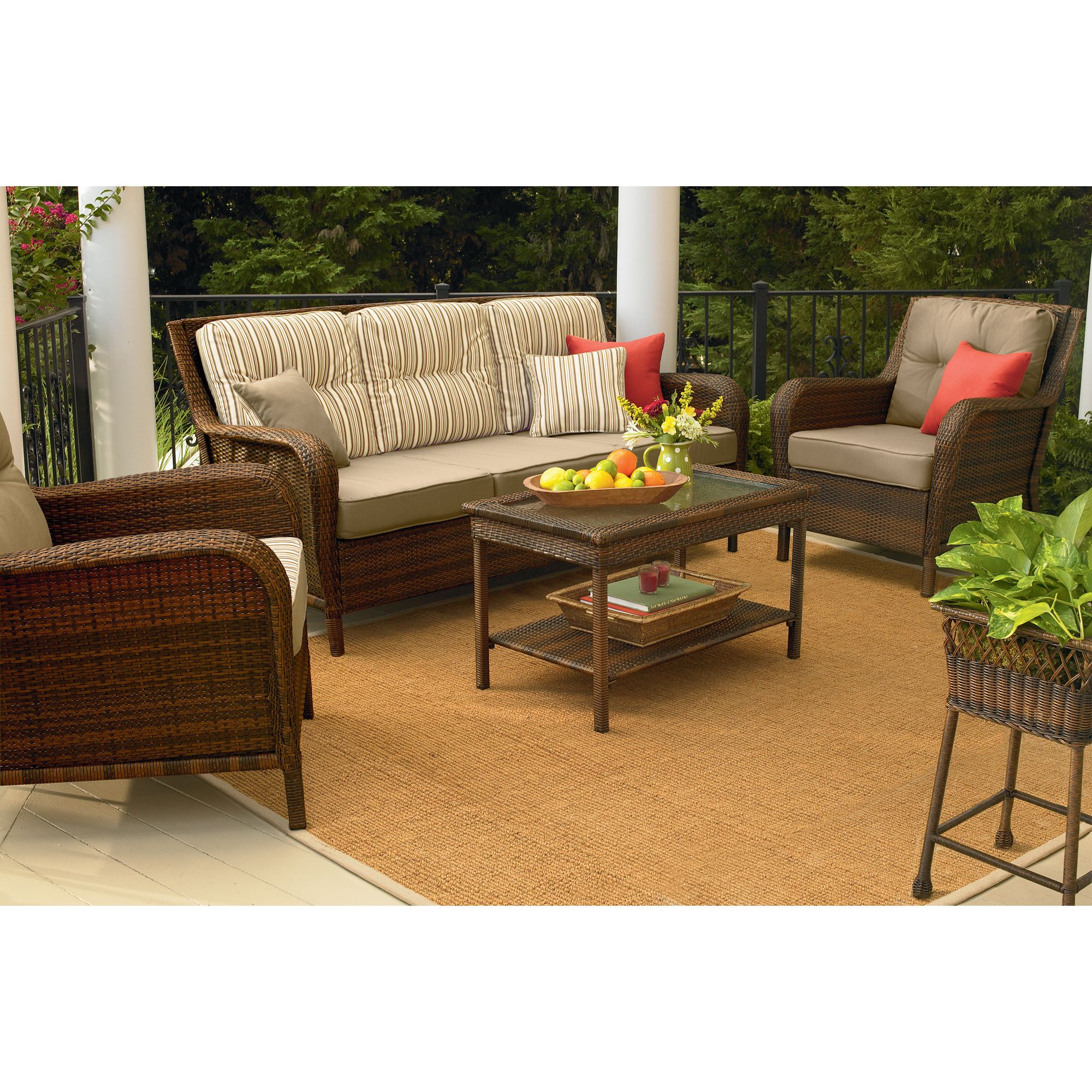 sears outdoor patio furniture Mayfield Wicker Patio Sofa: Transform Your Outdoor Style