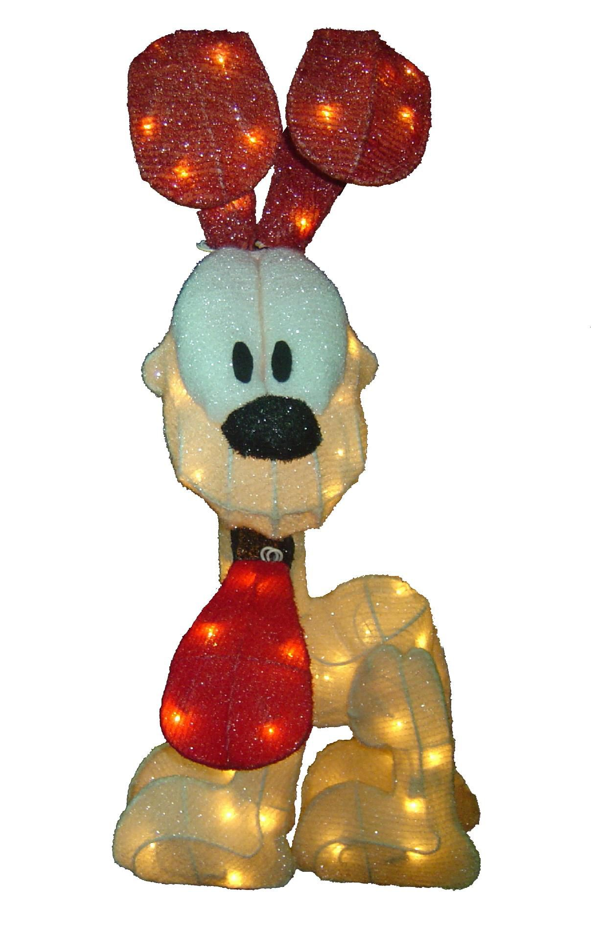 Garfield 24in Lighted Chenille Odie Christmas Decoration