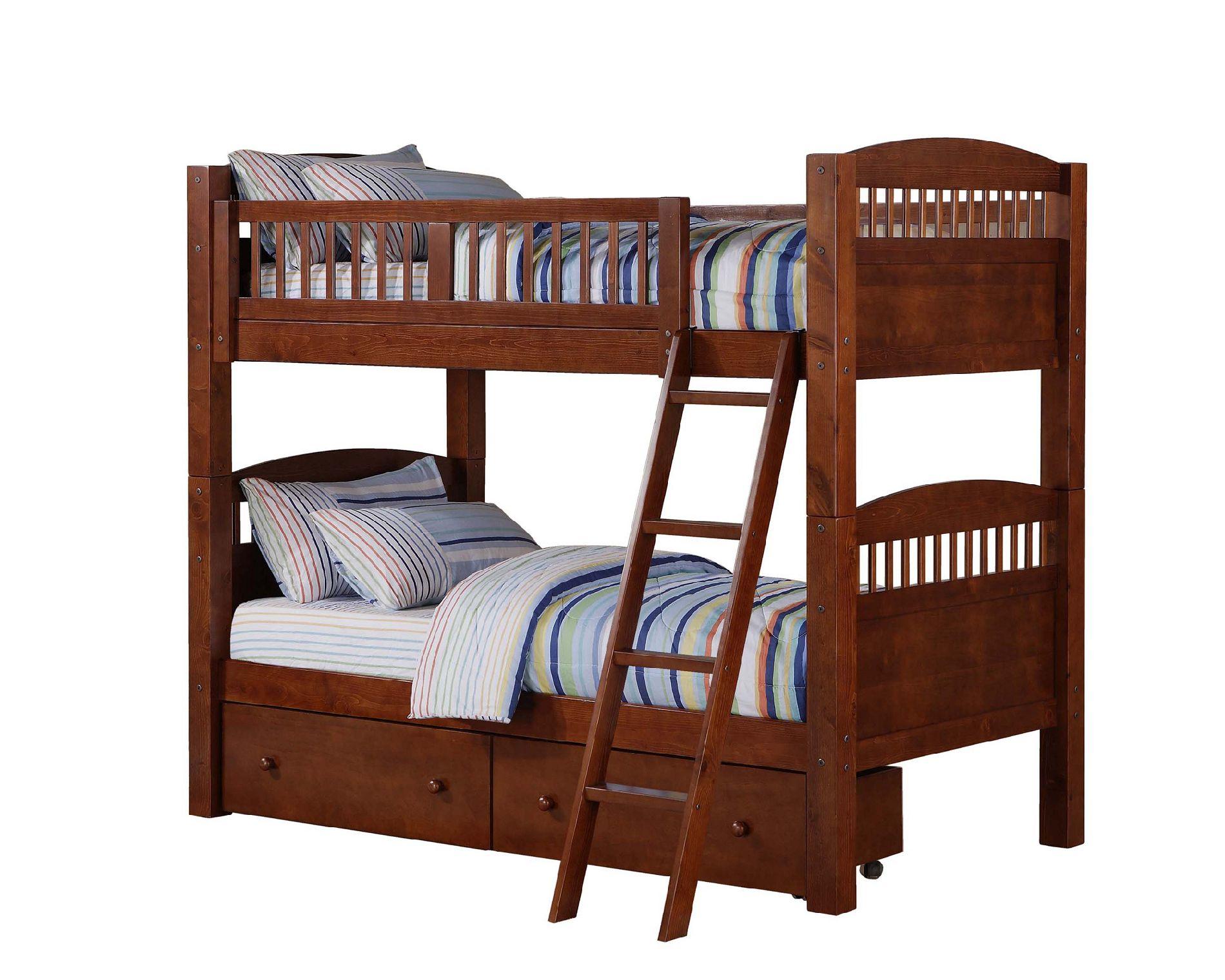 Dorel Bunk Bed Walnut