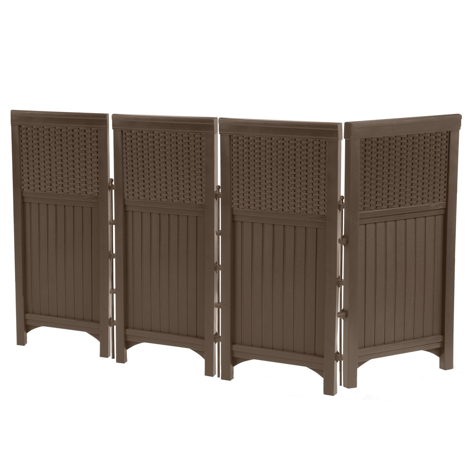 Suncast Resin Wicker Outdoor Screen Enclosure - Outdoor ... on Outdoor Living Wicker  id=11989