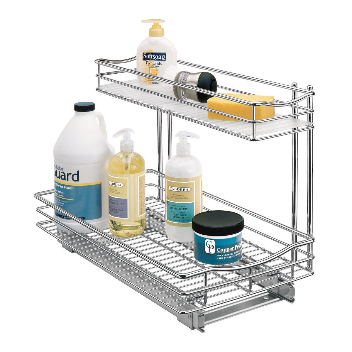 under sink cabinet organizer pull
